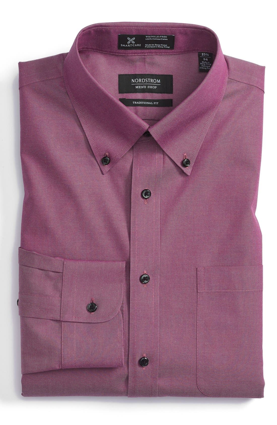 Smartcare<sup>™</sup> Traditional Fit Pinpoint Dress Shirt,                             Main thumbnail 32, color,