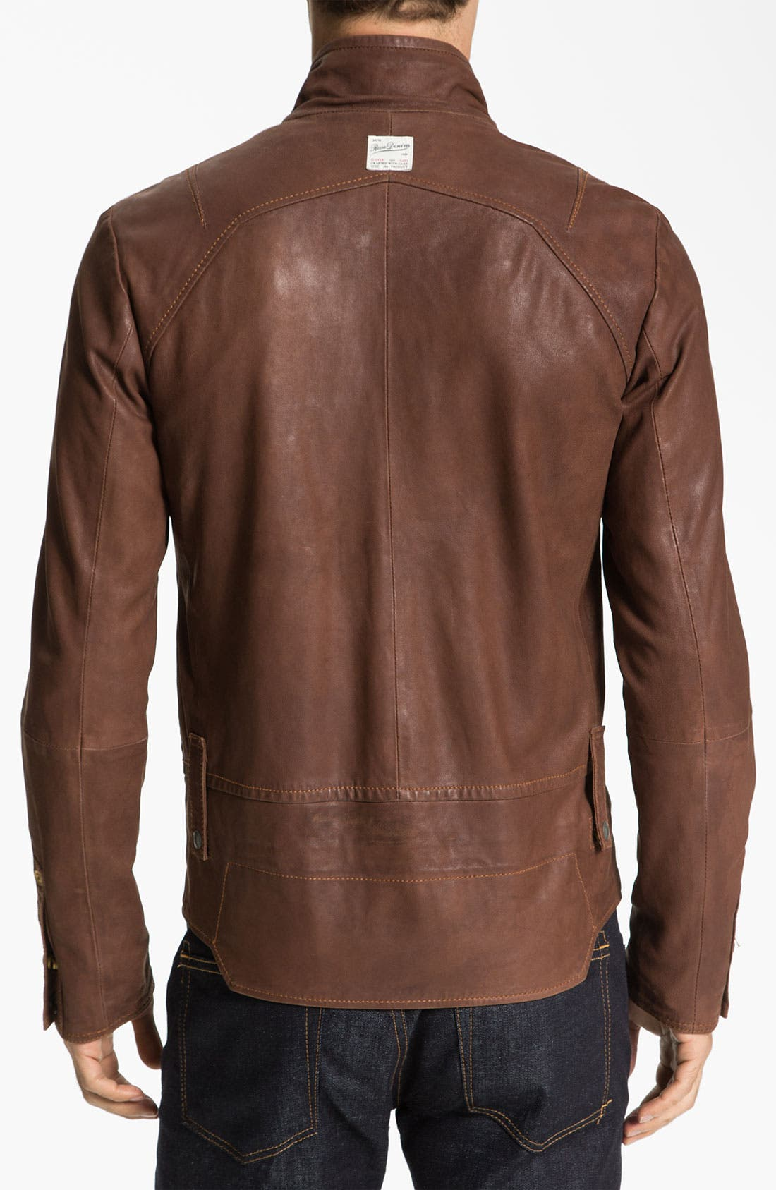 Leather Jacket,                             Alternate thumbnail 2, color,                             210