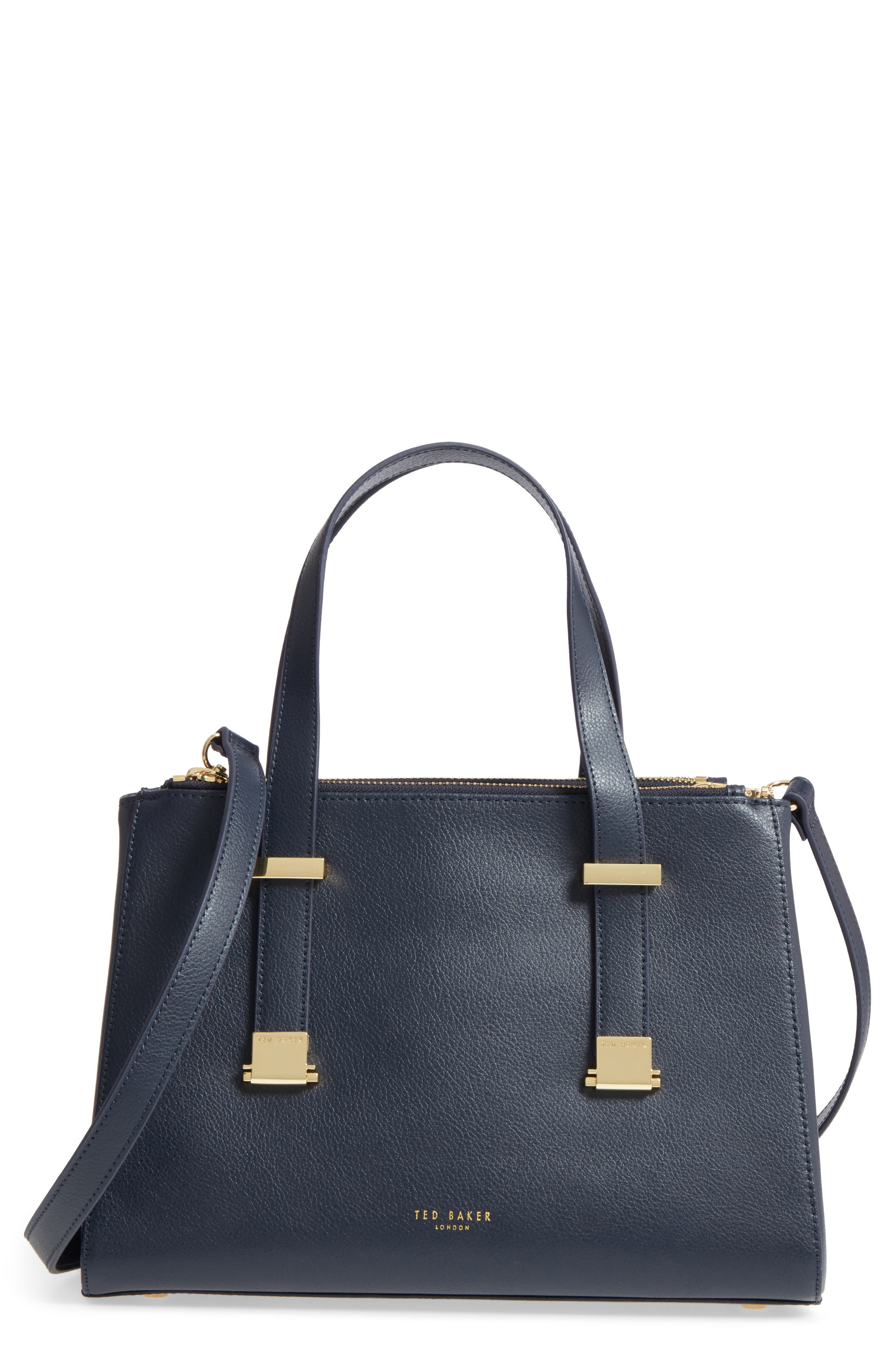 Ameliee Leather Satchel,                         Main,                         color,