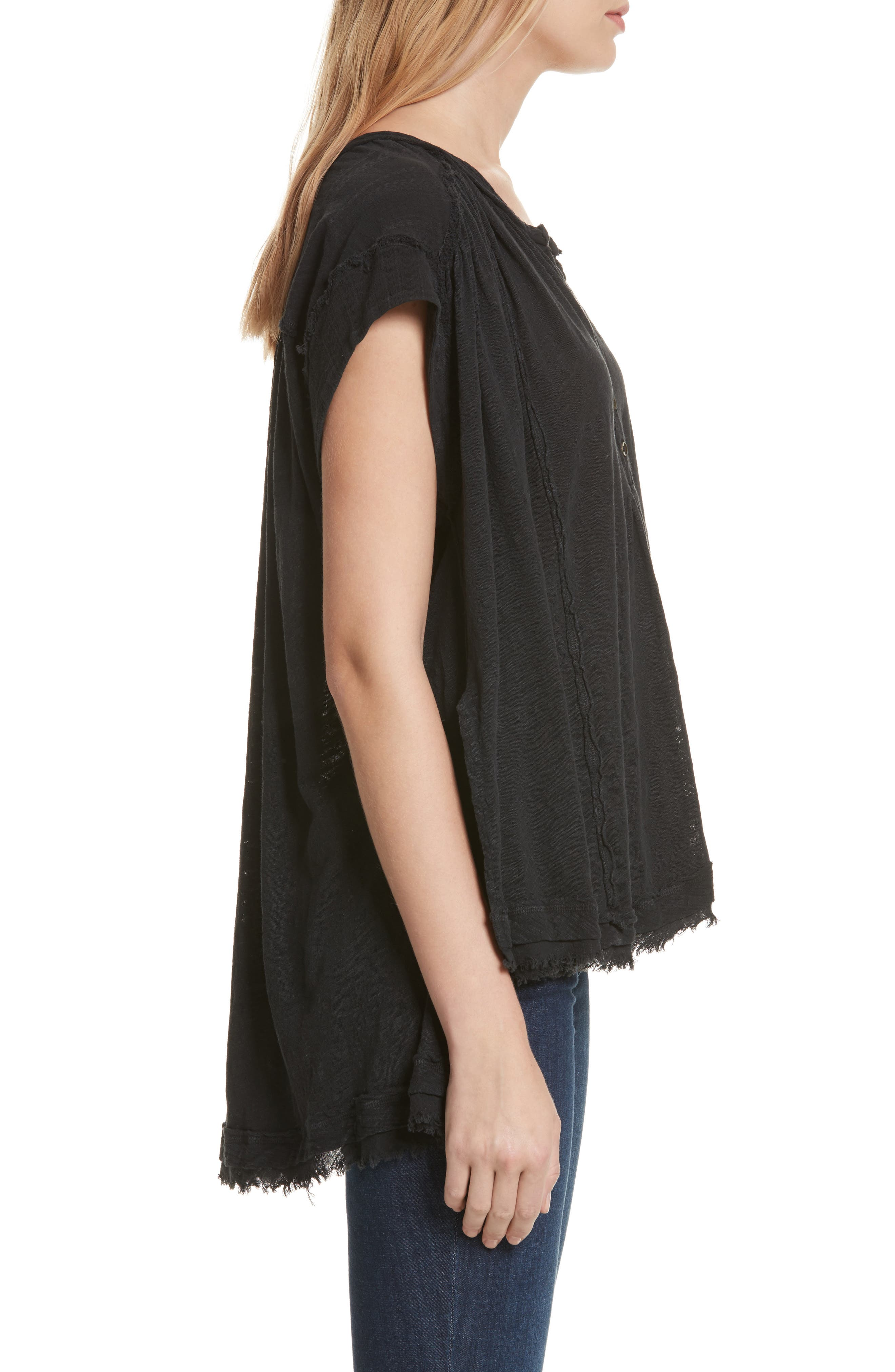 We the Free by Free People Aster Henley Top,                             Alternate thumbnail 3, color,                             001