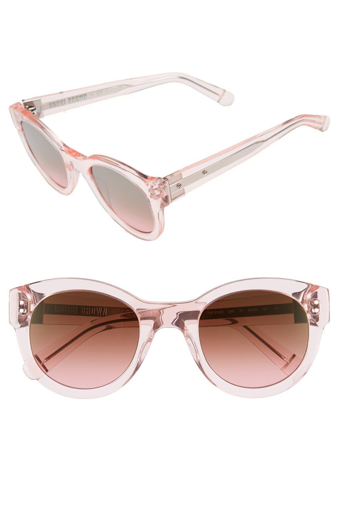 'The Zoe/S' 49mm Sunglasses,                             Main thumbnail 1, color,                             650