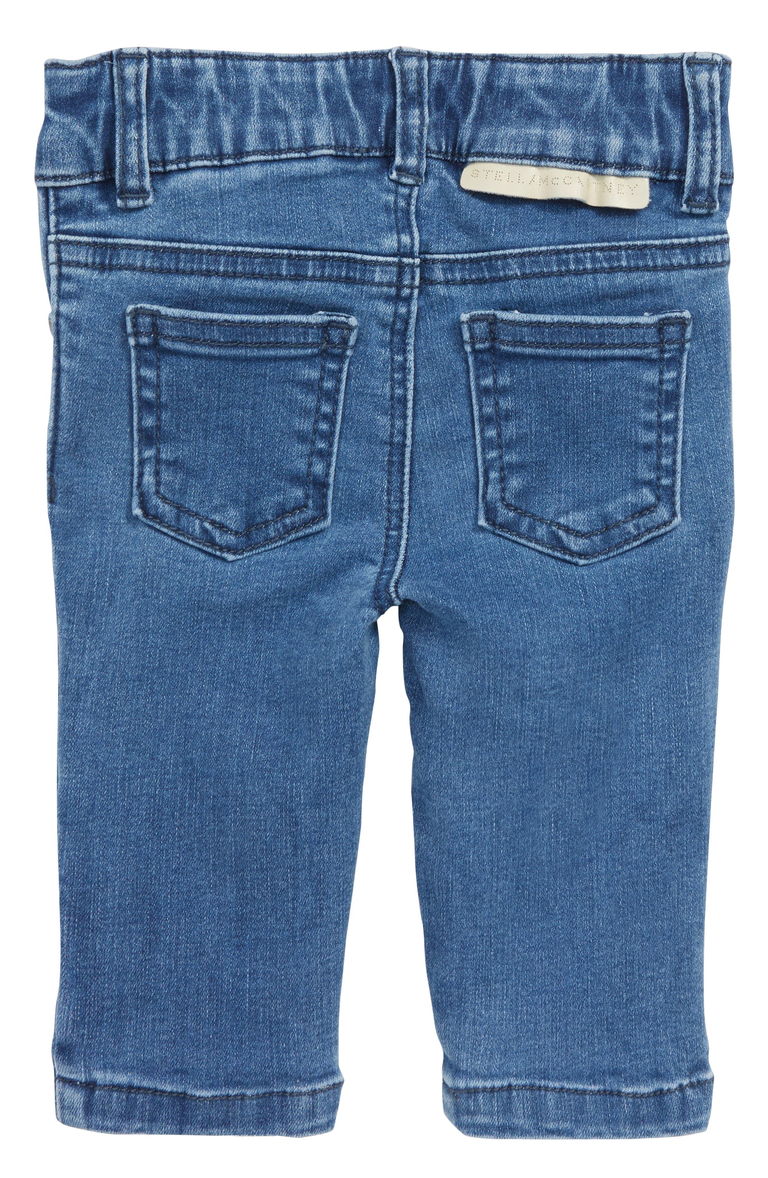 Bob Heart Patch Jeans,                             Alternate thumbnail 2, color,                             BLUE
