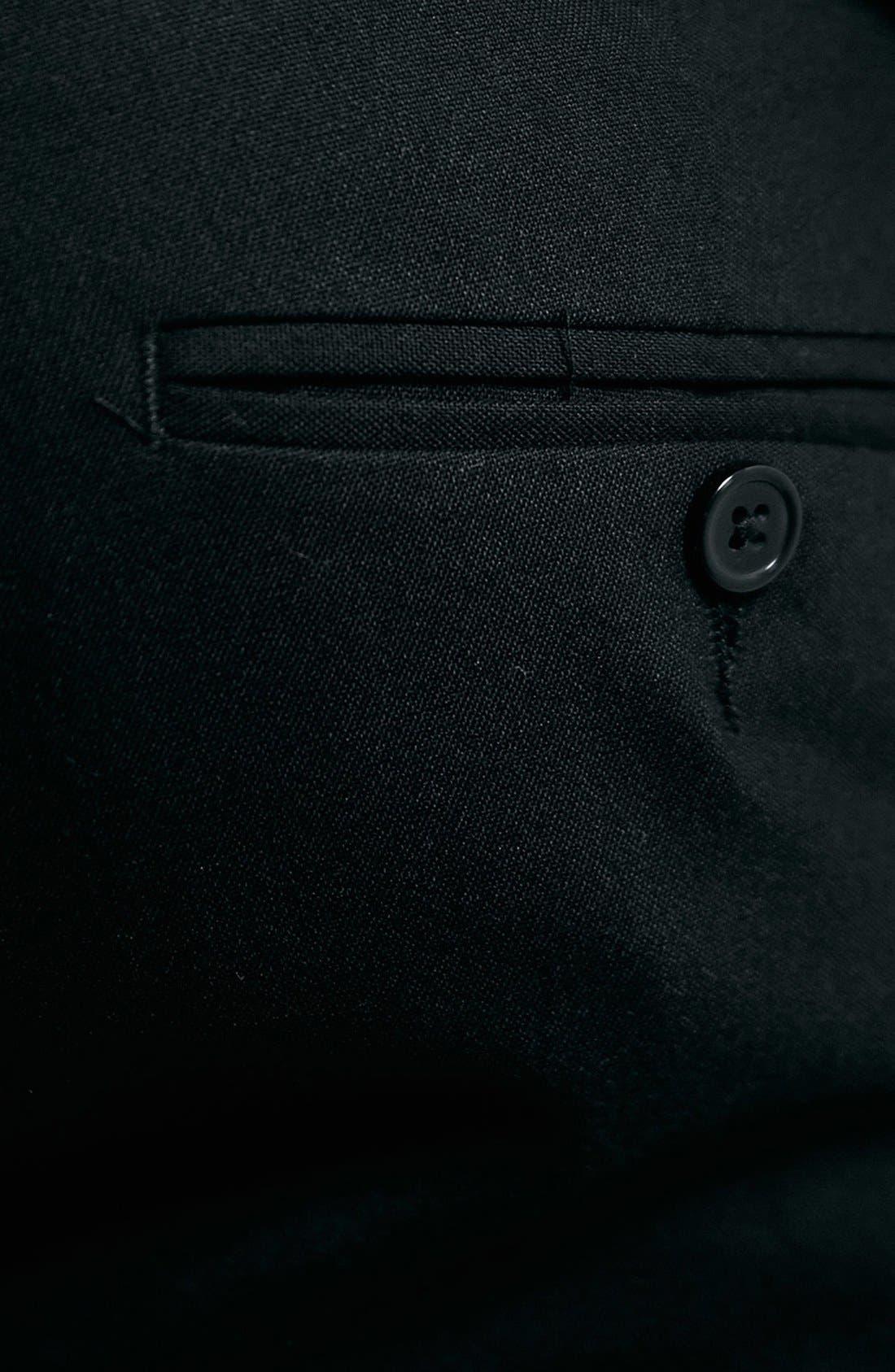 Ultra Skinny Black Suit Trousers,                             Alternate thumbnail 5, color,                             001