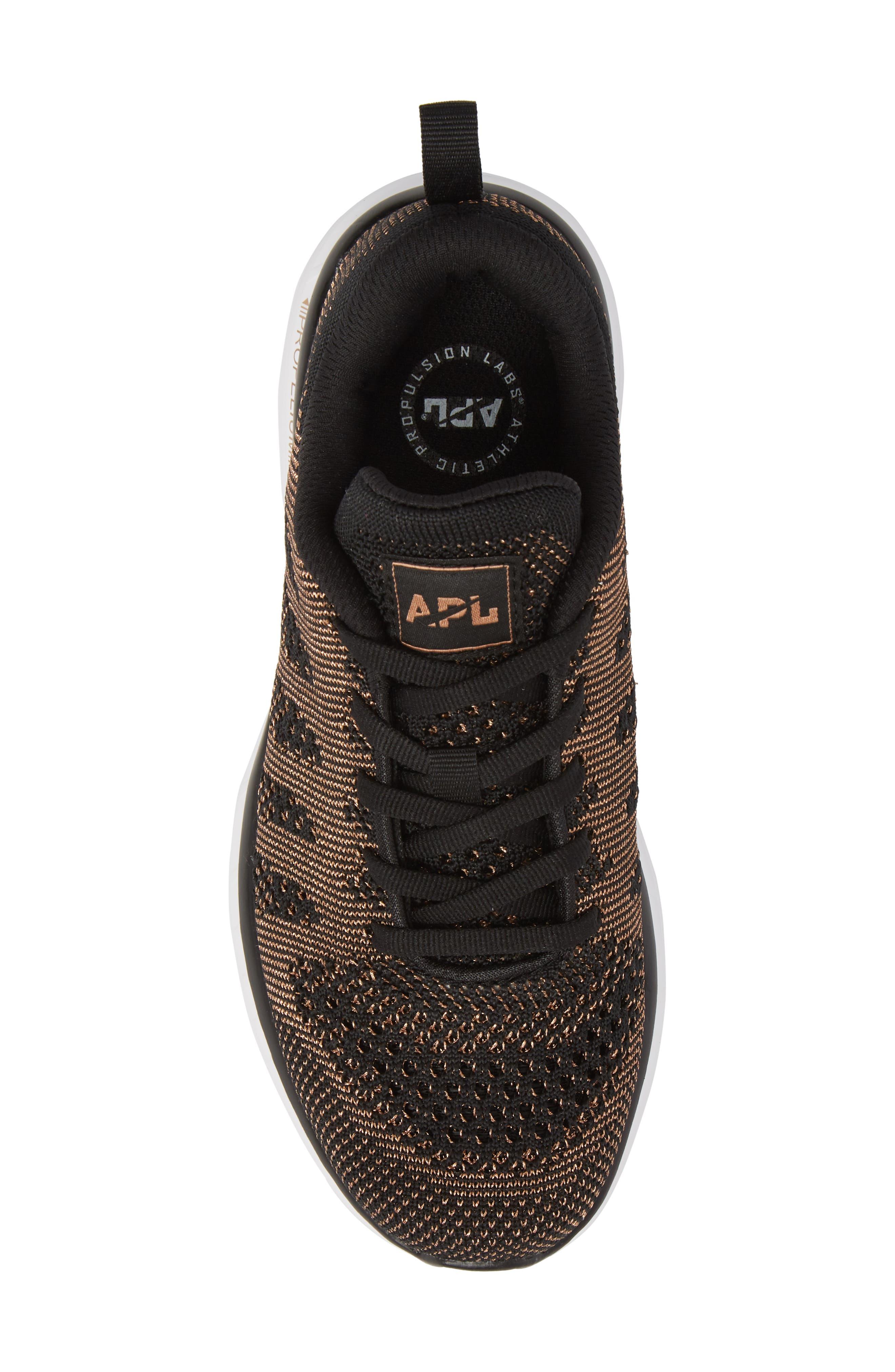 'Techloom Pro' Running Shoe,                             Alternate thumbnail 5, color,                             BLACK/ ROSE GOLD