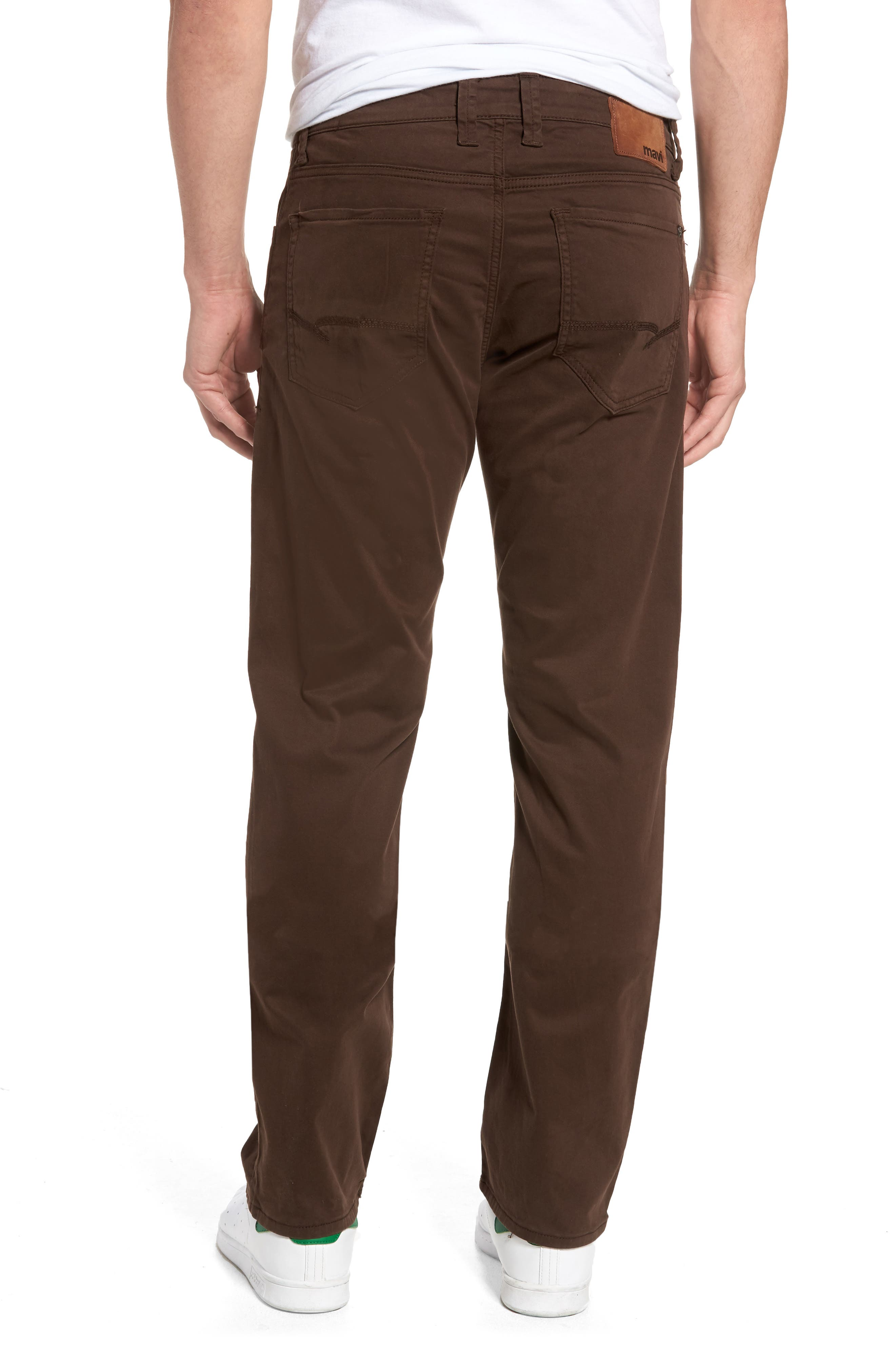 Zach Straight Fit Twill Pants,                             Alternate thumbnail 2, color,                             COFFEE BEAN TWILL