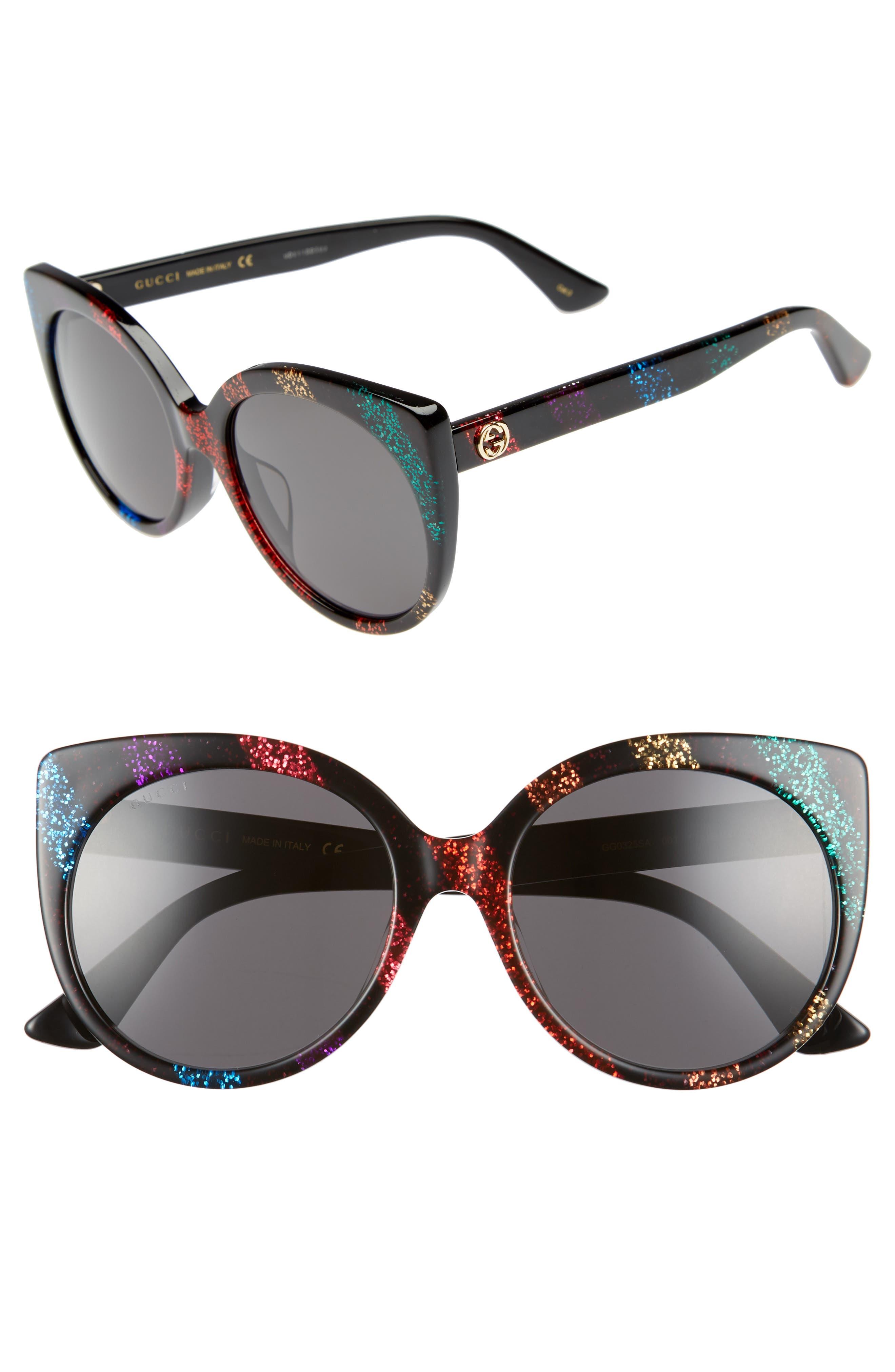 57mm Cat Eye Sunglasses,                             Main thumbnail 1, color,                             010