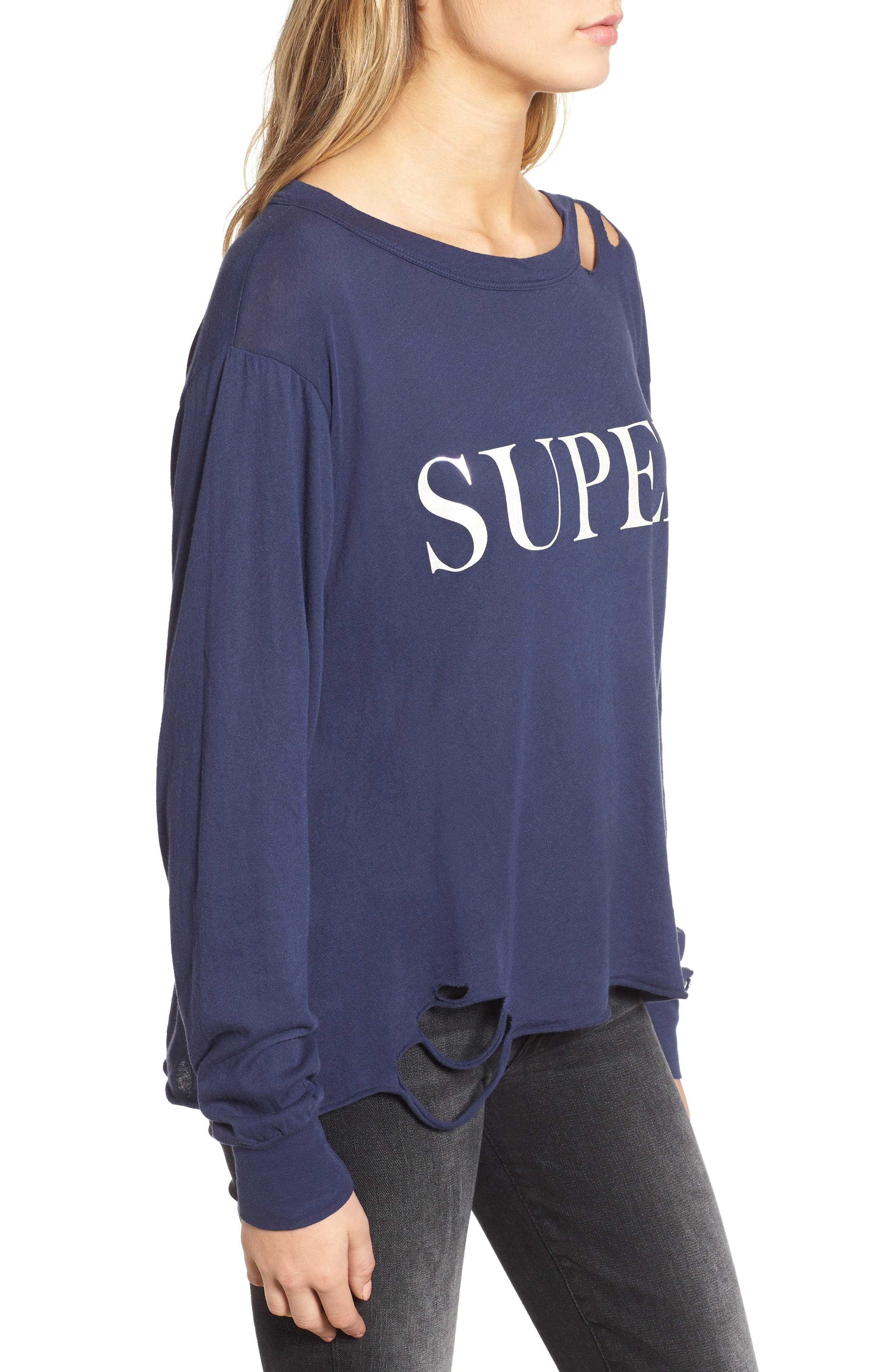 Stellar - Super Ripped Graphic Tee,                             Alternate thumbnail 3, color,                             OXFORD