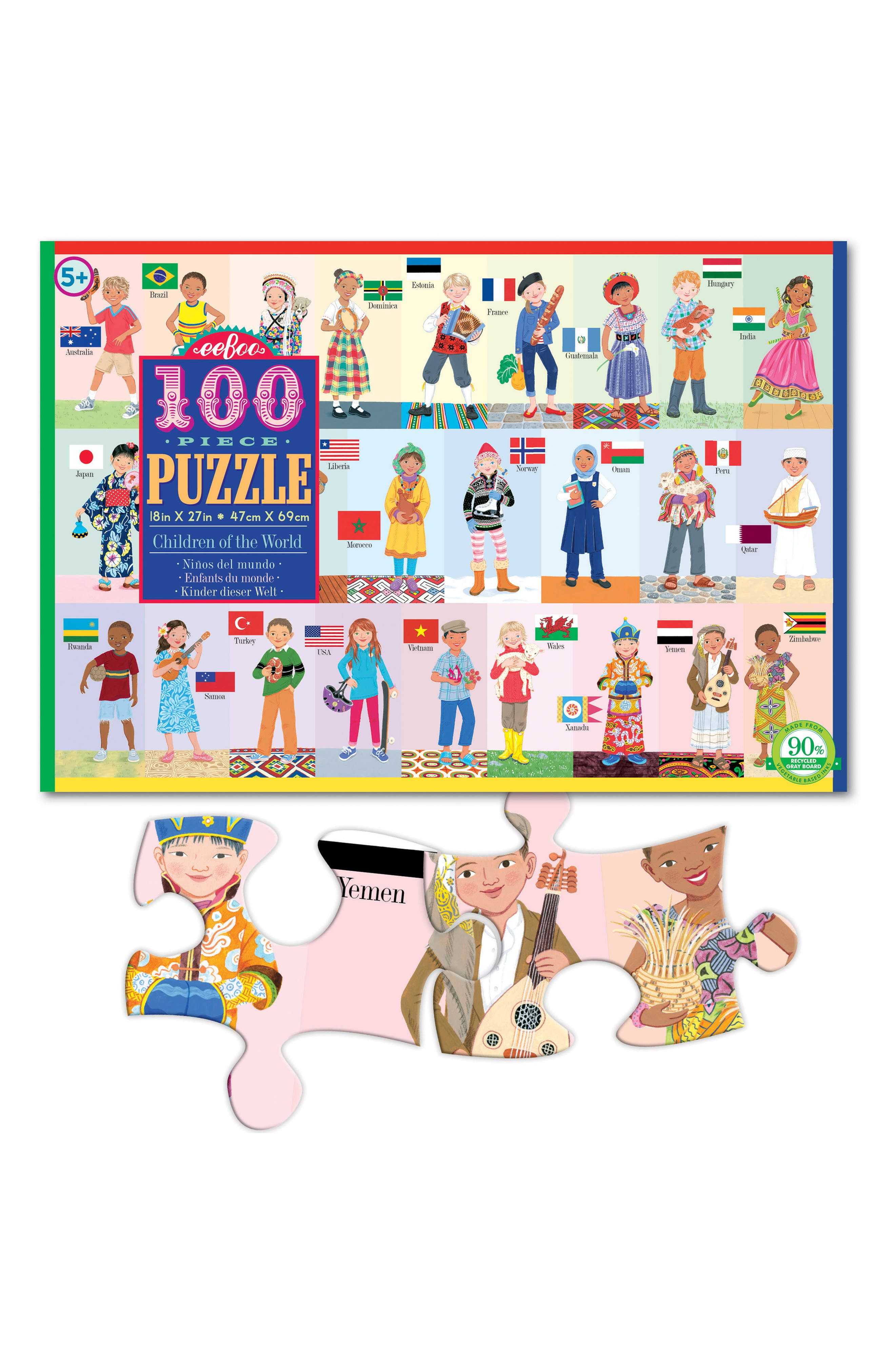 Children of the World 100-Piece Puzzle,                             Alternate thumbnail 2, color,                             400