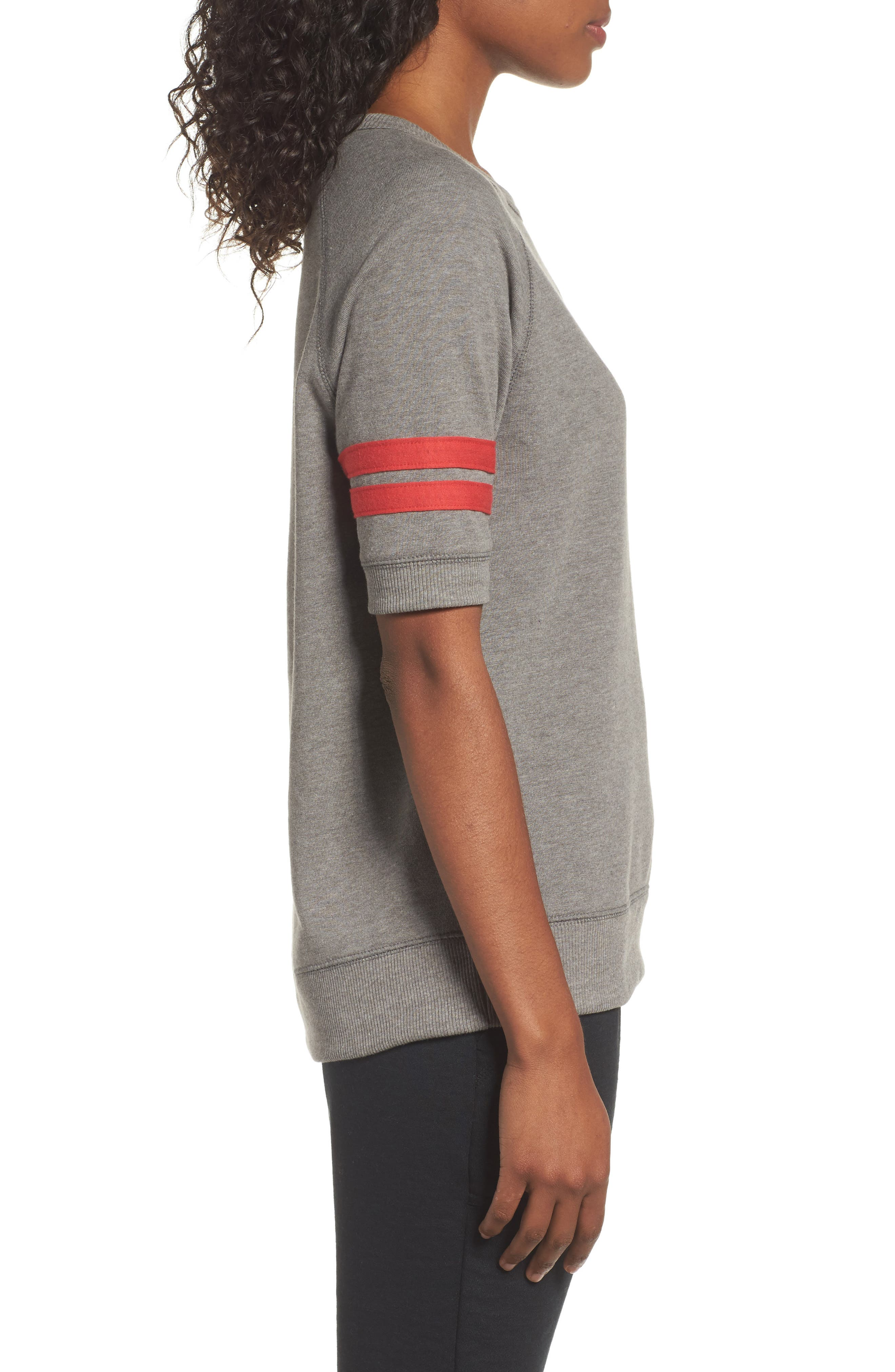 The Fifty Yardliner Pullover,                             Alternate thumbnail 3, color,                             VINTAGE COAL/ RED