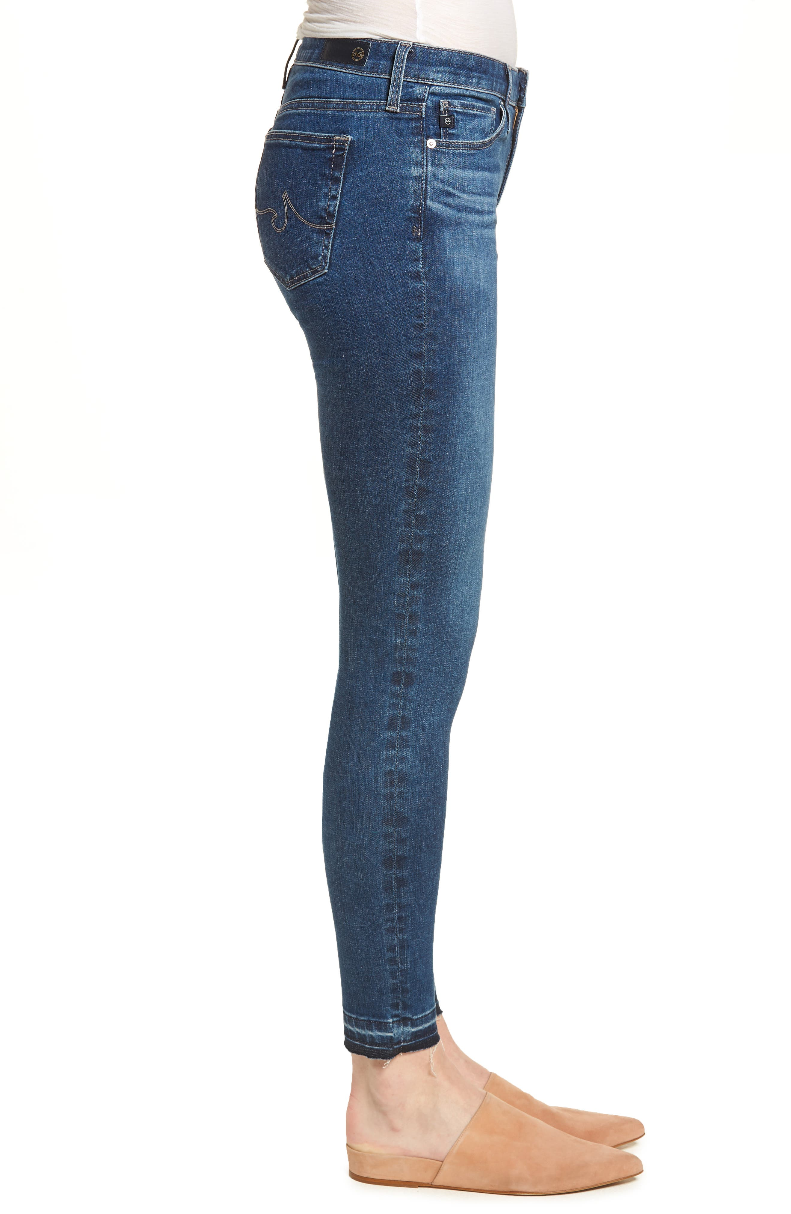 The Legging Ankle Super Skinny Jeans,                             Alternate thumbnail 3, color,                             421