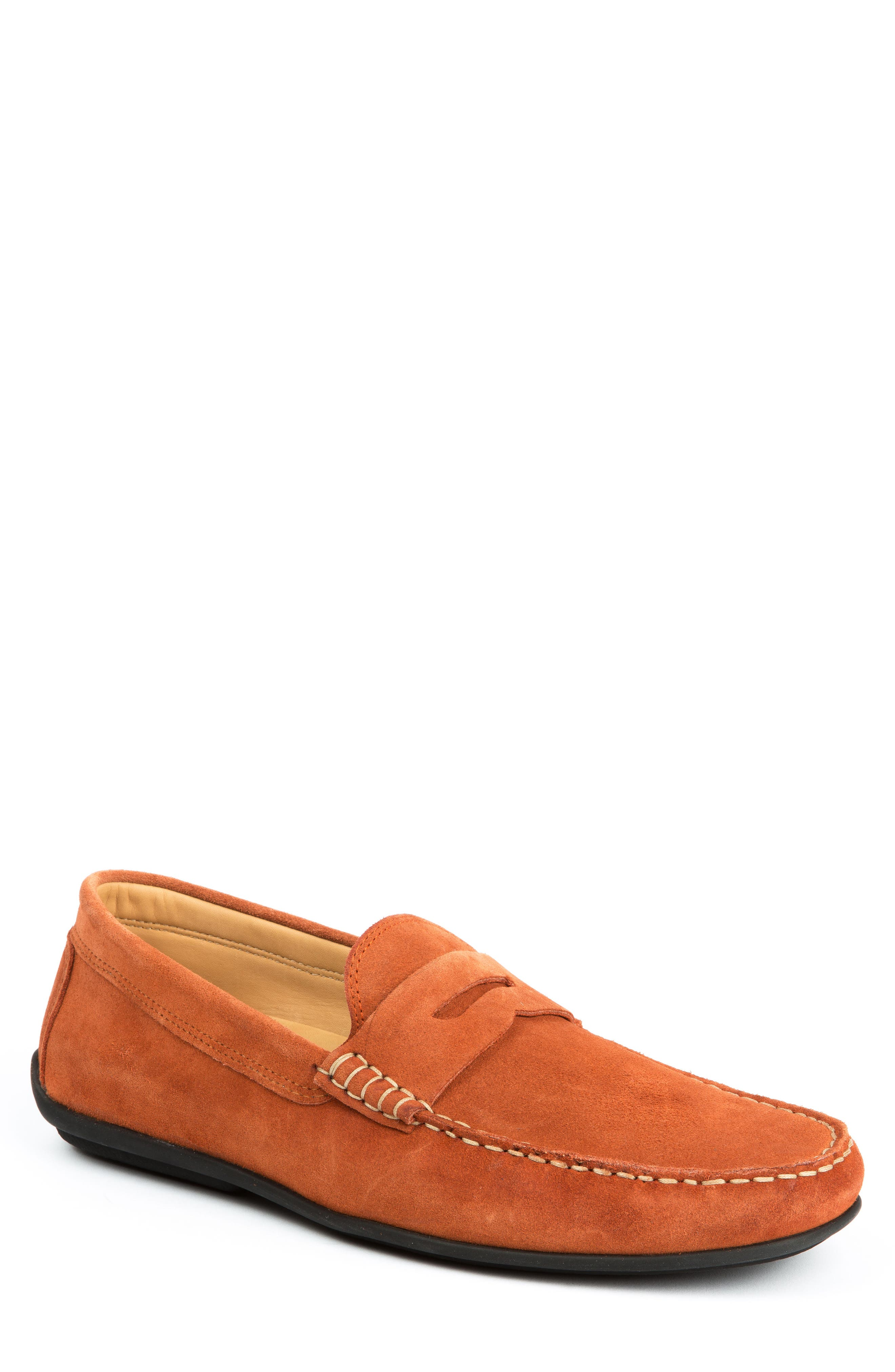 Peytons Driving Shoe,                         Main,                         color, BRICK SUEDE