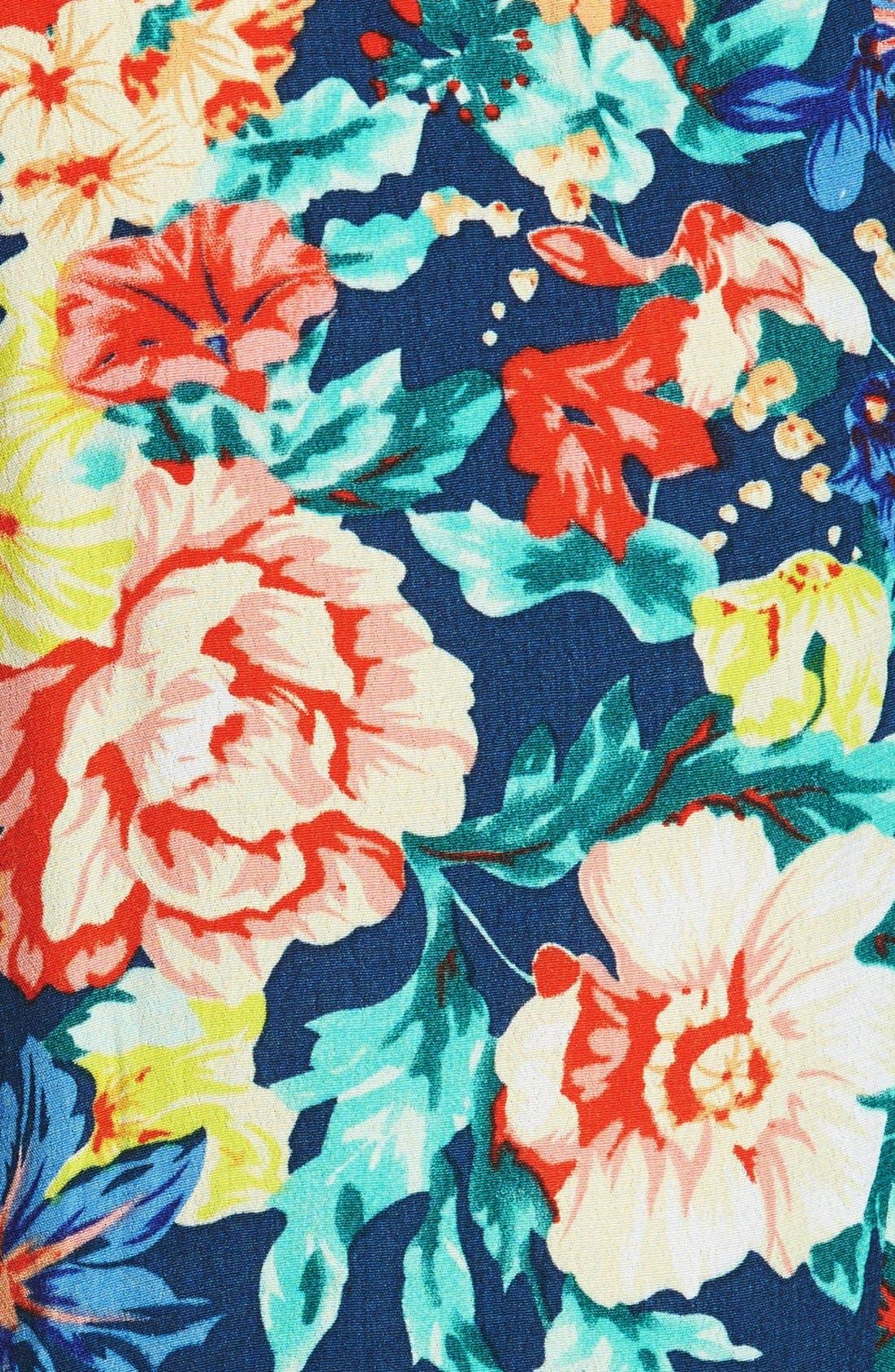 'Acid Bloom' Floral Print Jogger Pants,                             Alternate thumbnail 4, color,                             400