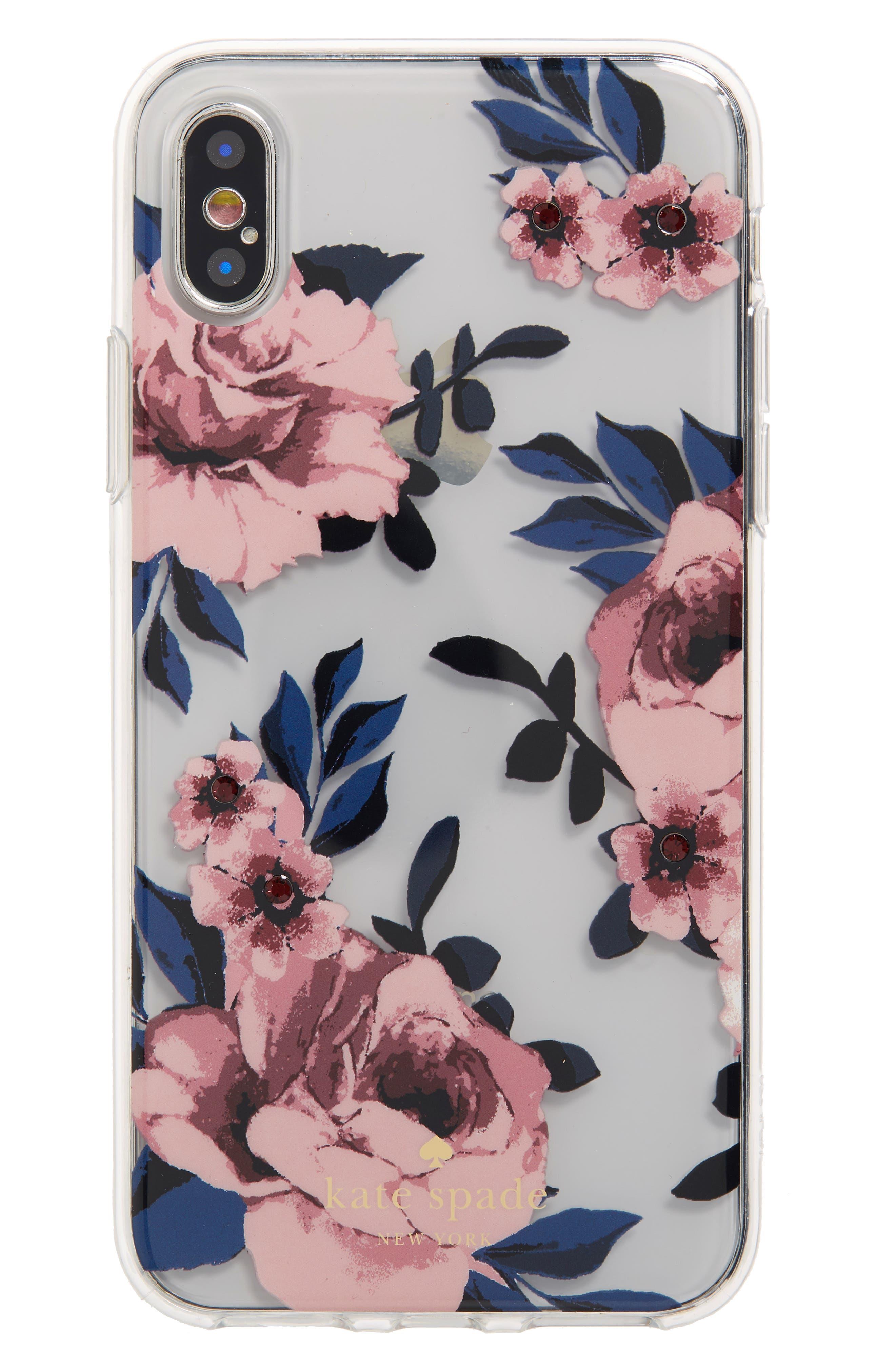 crystal prairie rose iPhone X/Xs case,                             Main thumbnail 1, color,                             650