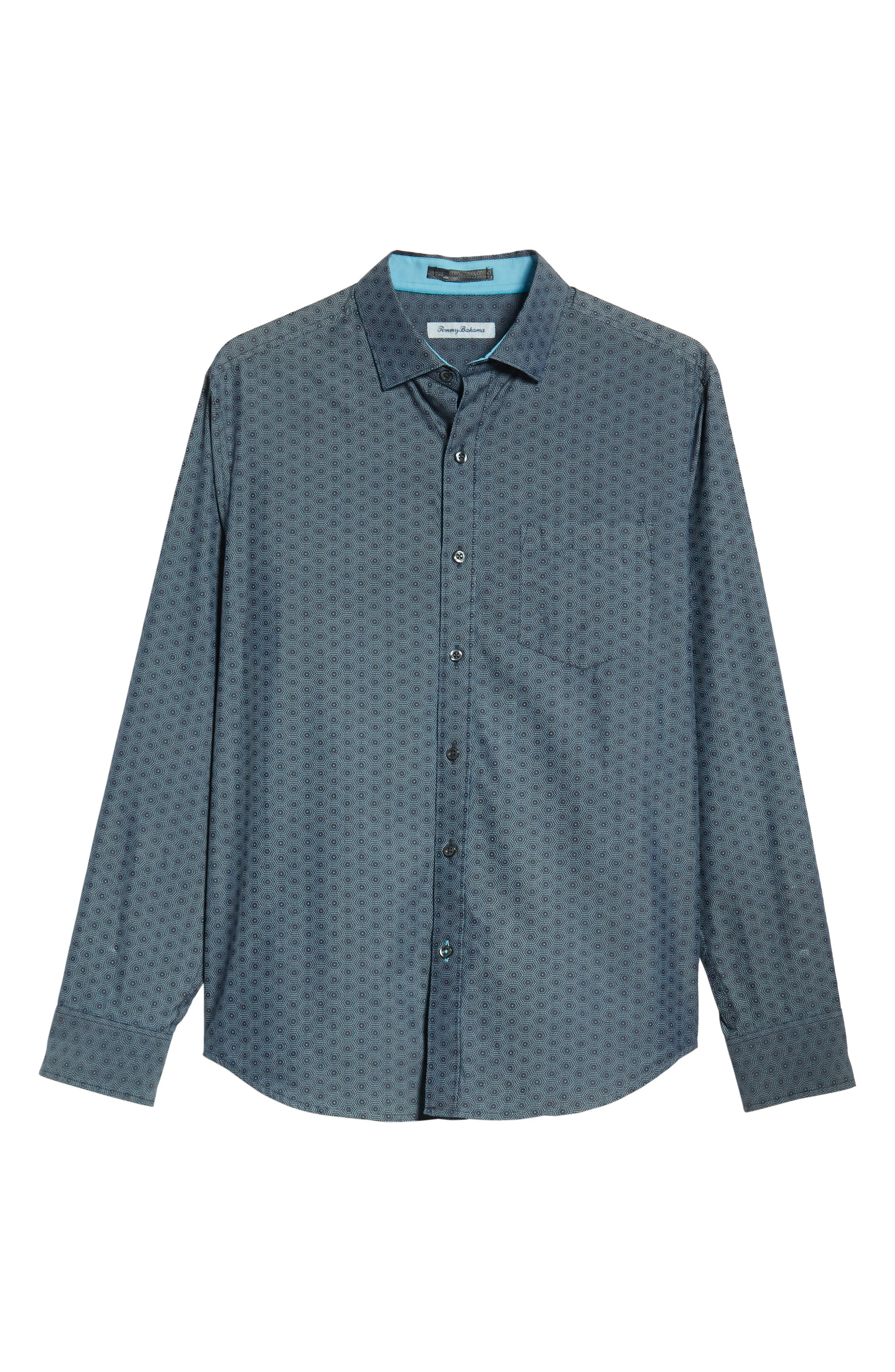 Rio del Geo Sport Shirt,                             Alternate thumbnail 6, color,                             OCEAN DEEP