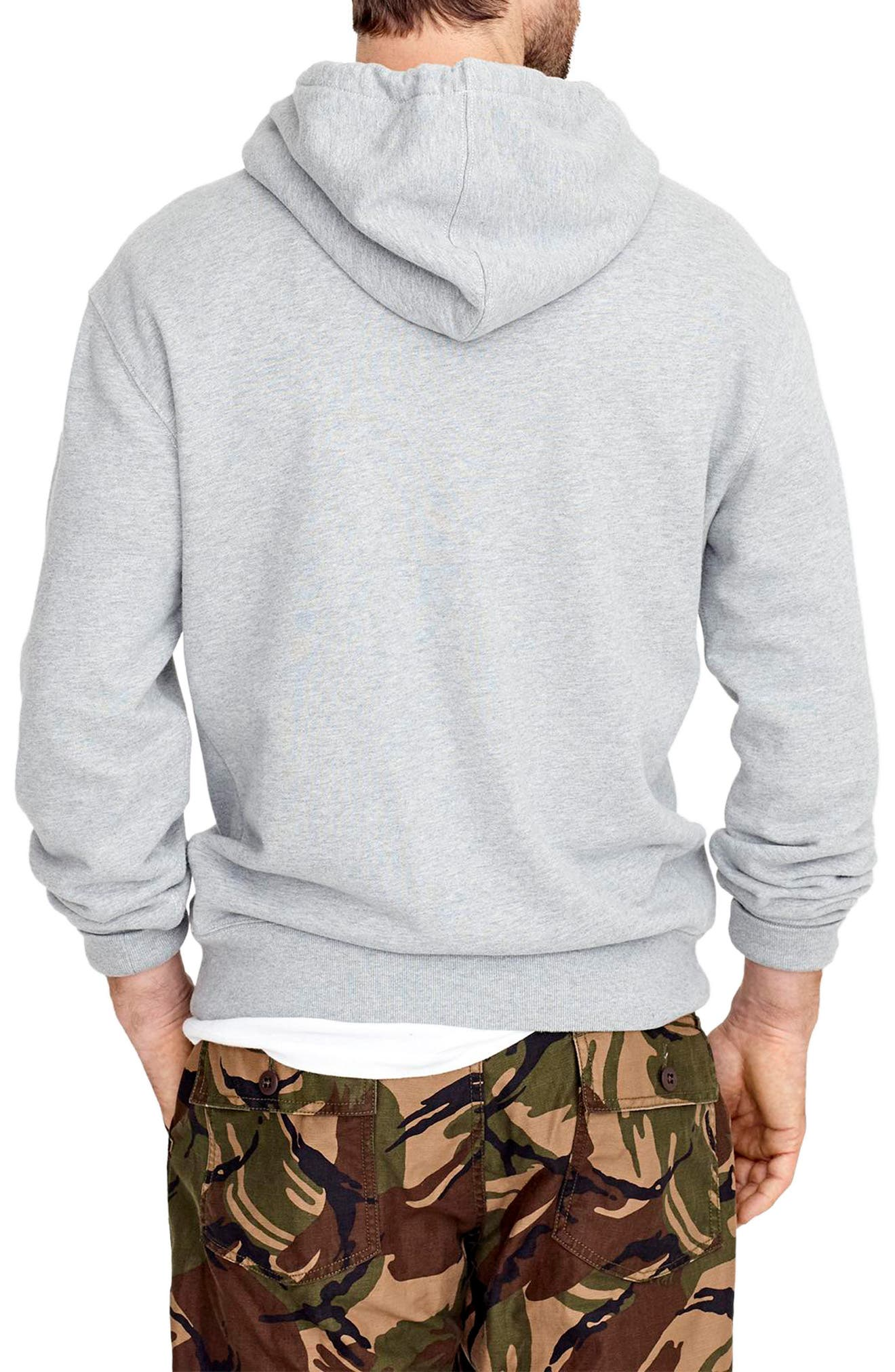 French Terry Pullover Hoodie,                             Alternate thumbnail 2, color,                             021