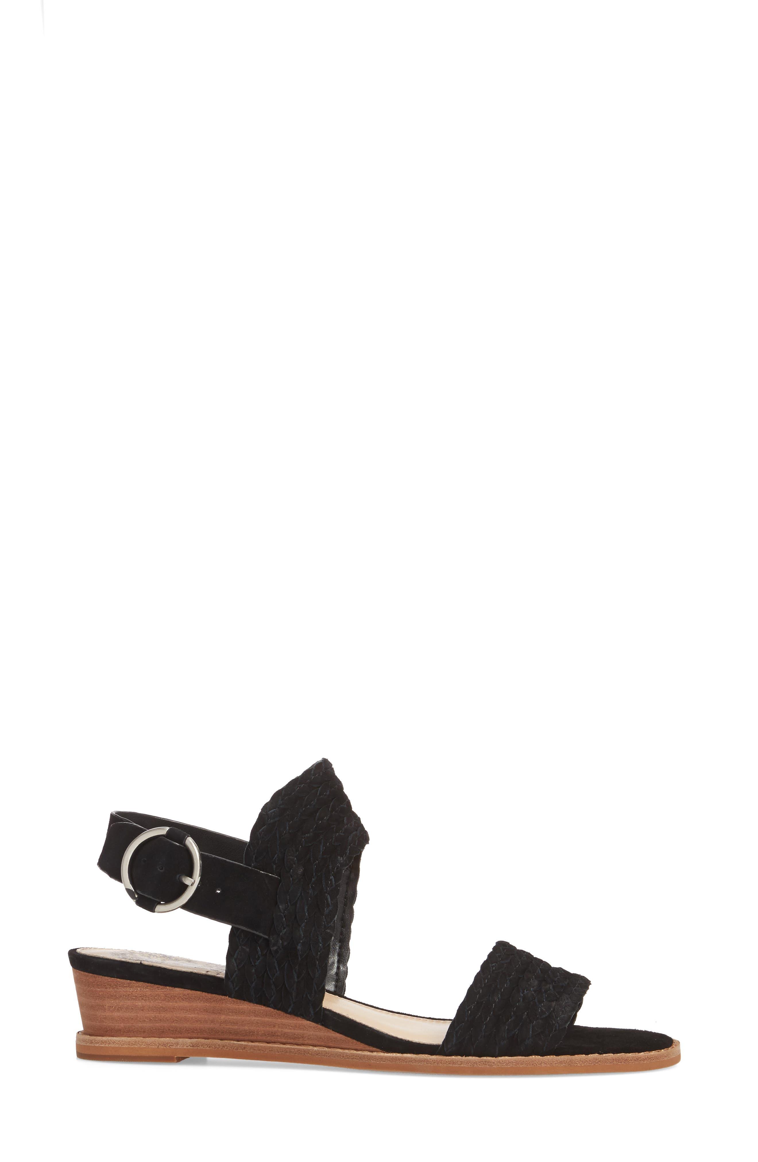 Raner Sandal,                             Alternate thumbnail 3, color,                             BLACK SUEDE