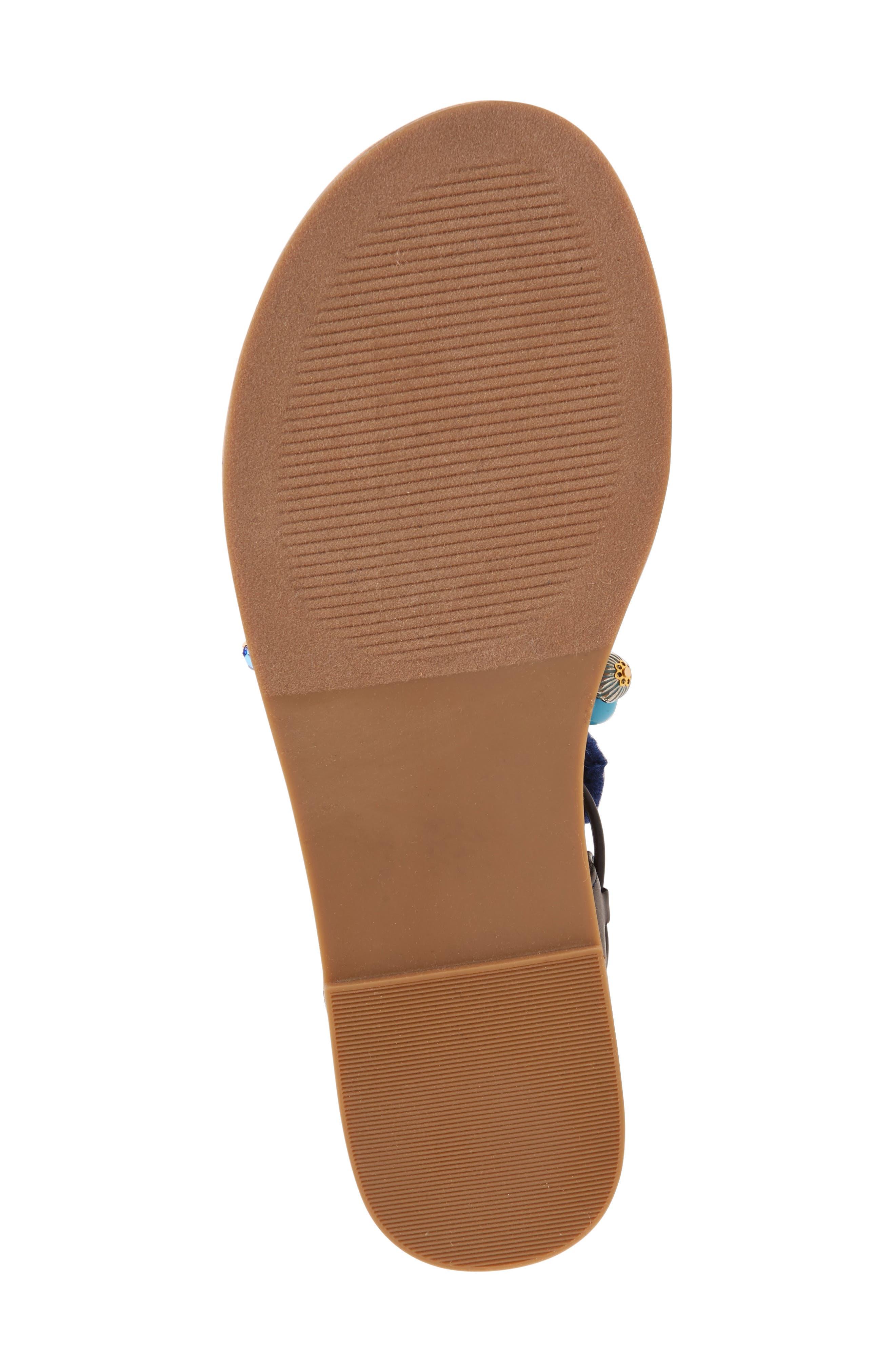 Laney Pompom Lace-Up Sandal,                             Alternate thumbnail 4, color,                             435