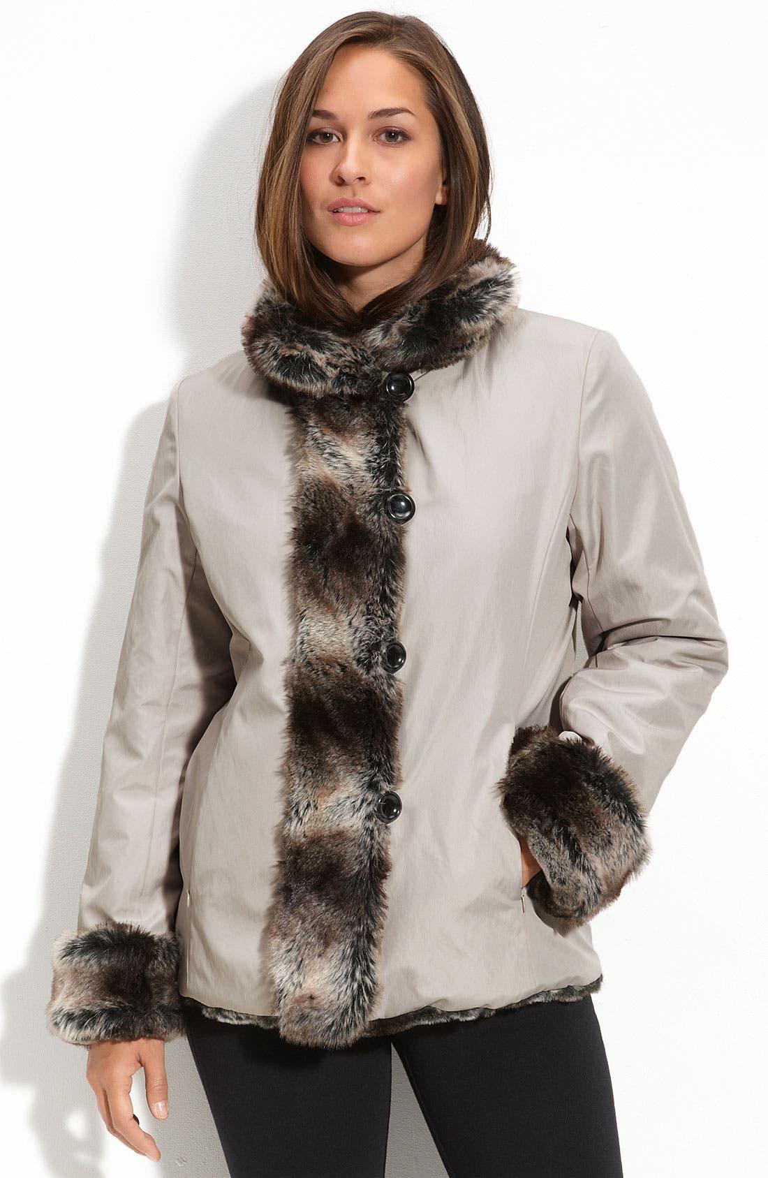 Utex Reversible Faux Fur Coat, Main, color, 040