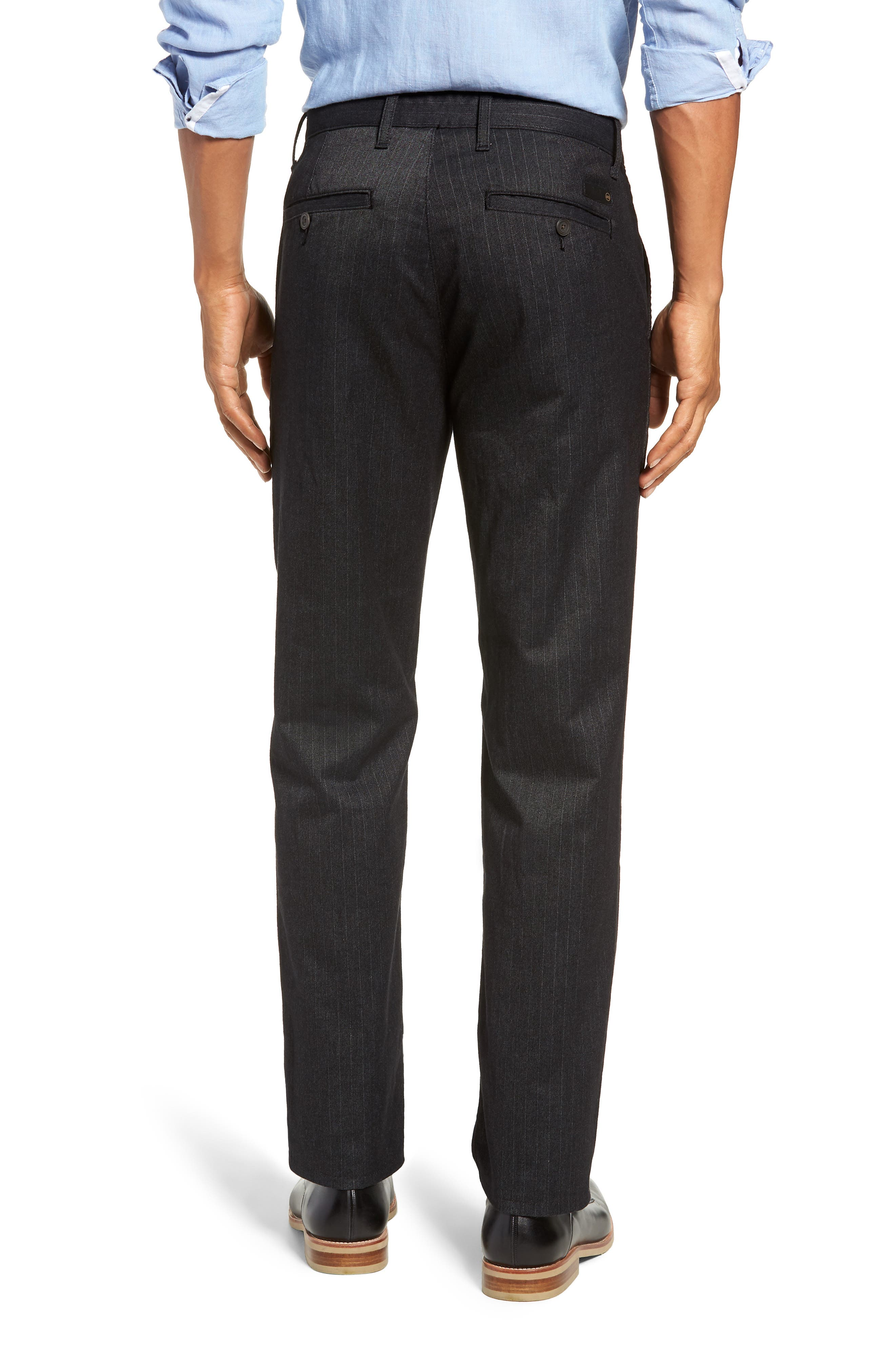 Marshall Slim Fit Pinstripe Pants,                             Alternate thumbnail 2, color,                             HEATHERED MELANGE BLACK