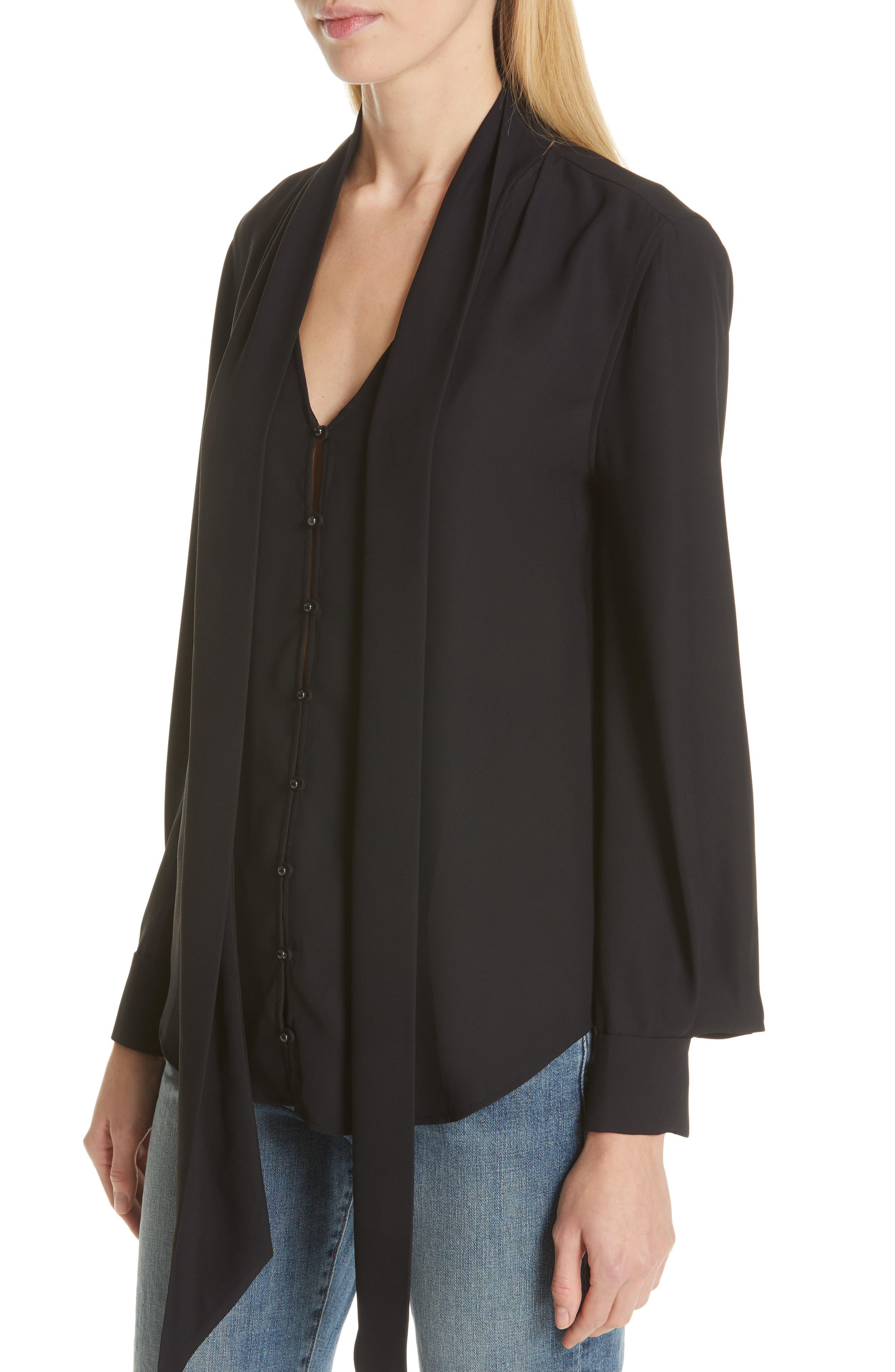 Haty Button Front Shirt,                             Alternate thumbnail 5, color,                             TRUE BLACK