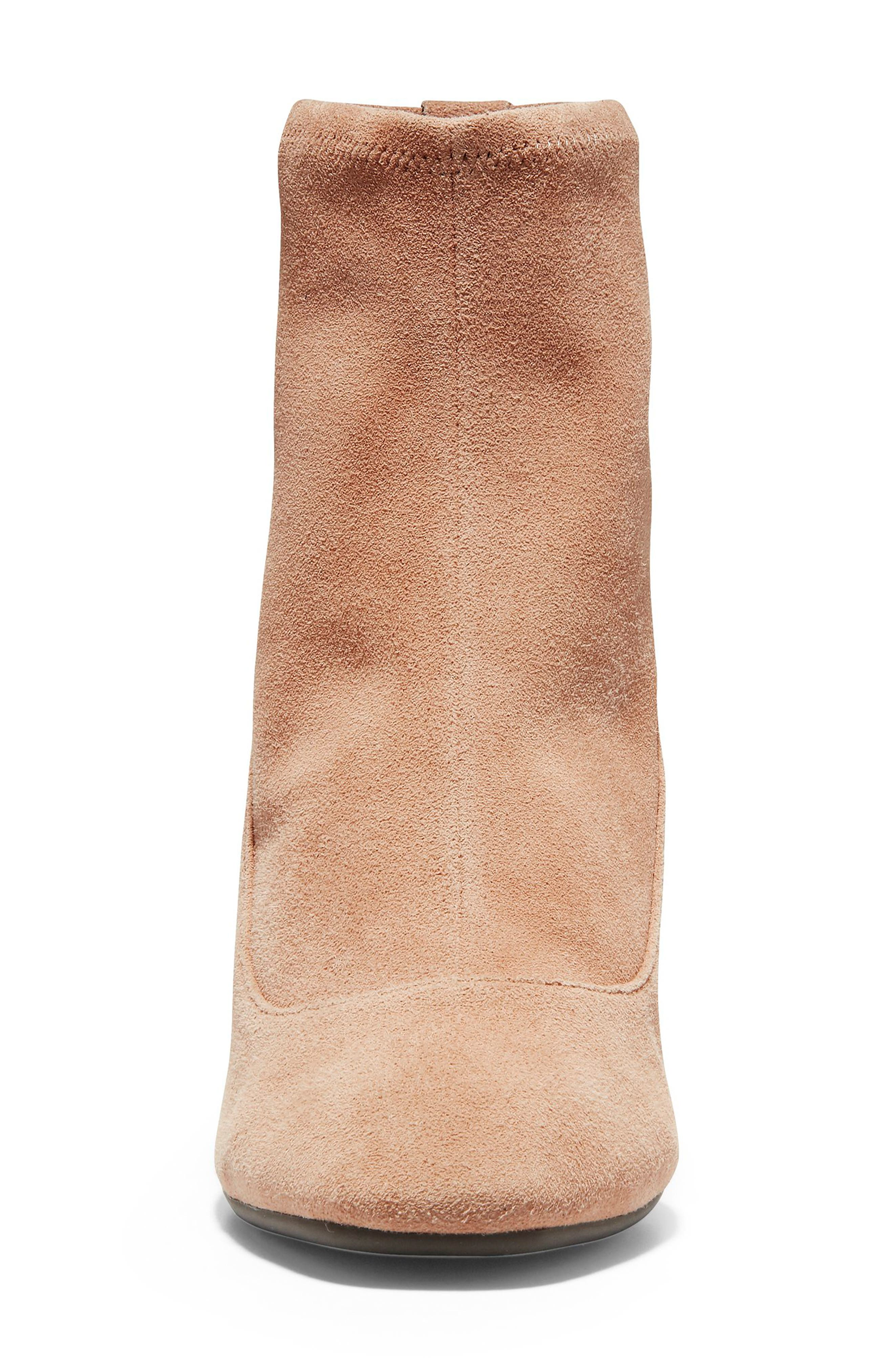 Laree Stretch Bootie,                             Alternate thumbnail 4, color,                             MOCHA STRETCH SUEDE