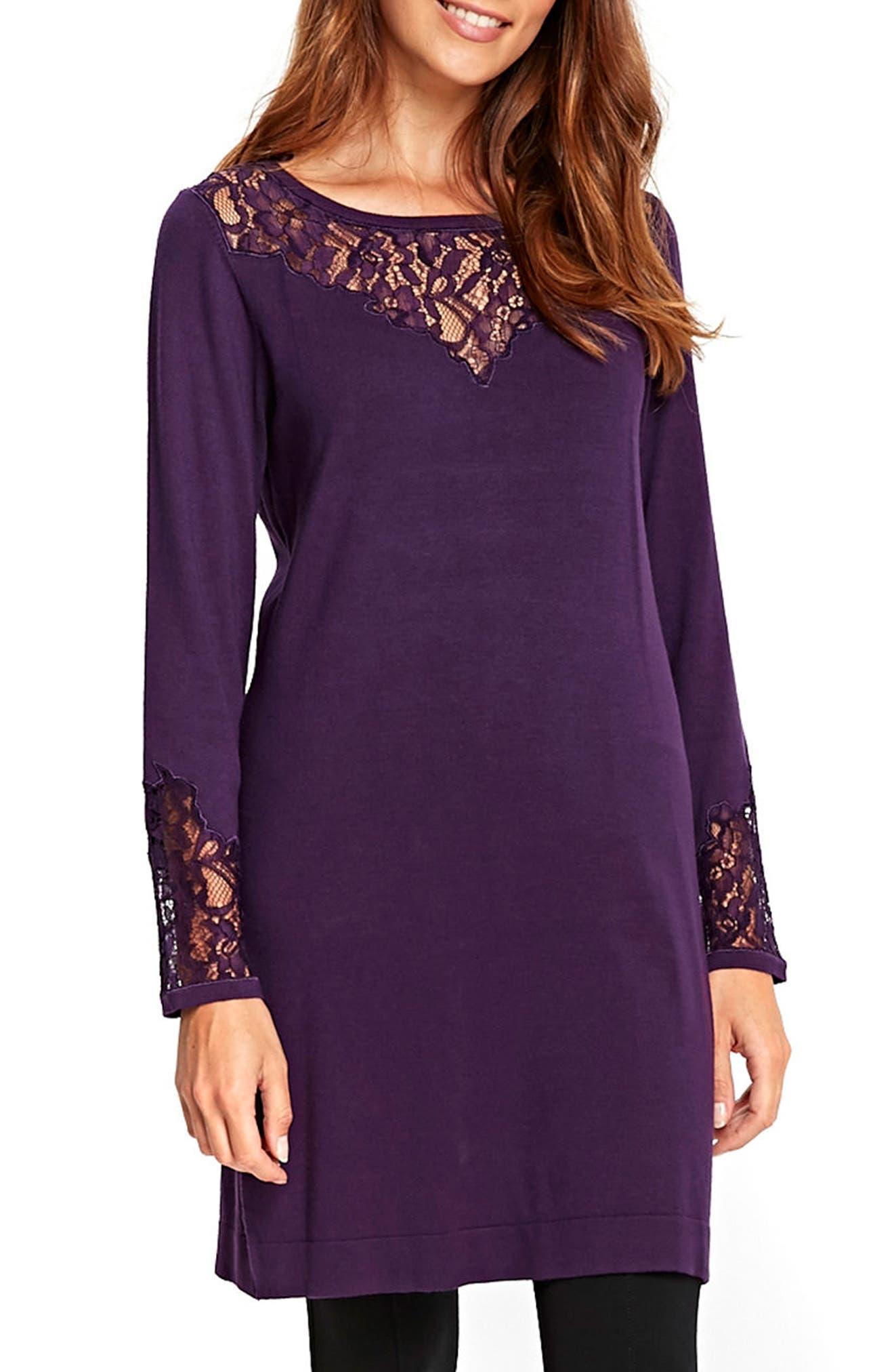 Lace Panel Shift Dress,                             Main thumbnail 2, color,