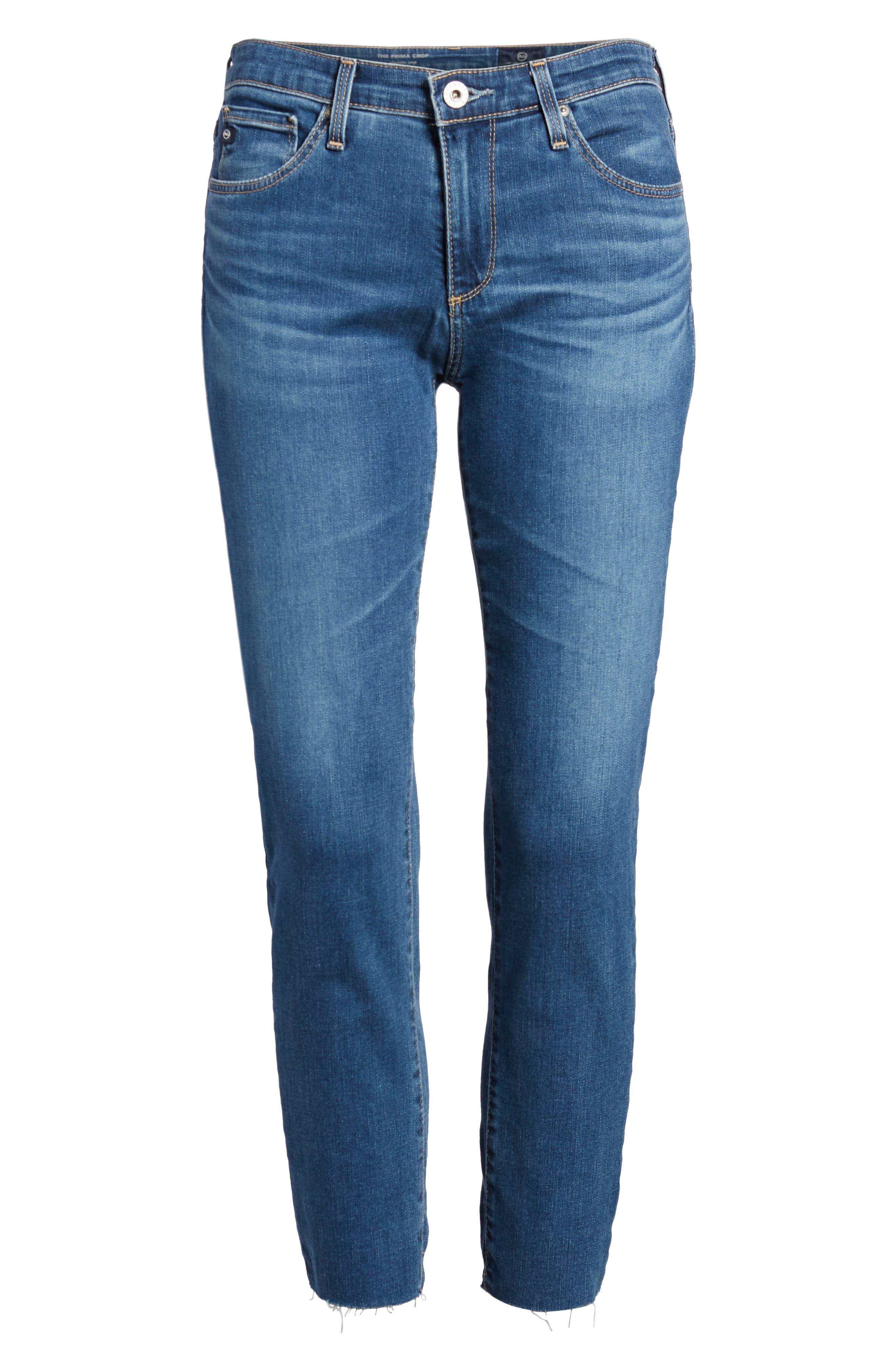 Prima Crop Skinny Jeans,                             Alternate thumbnail 6, color,                             416