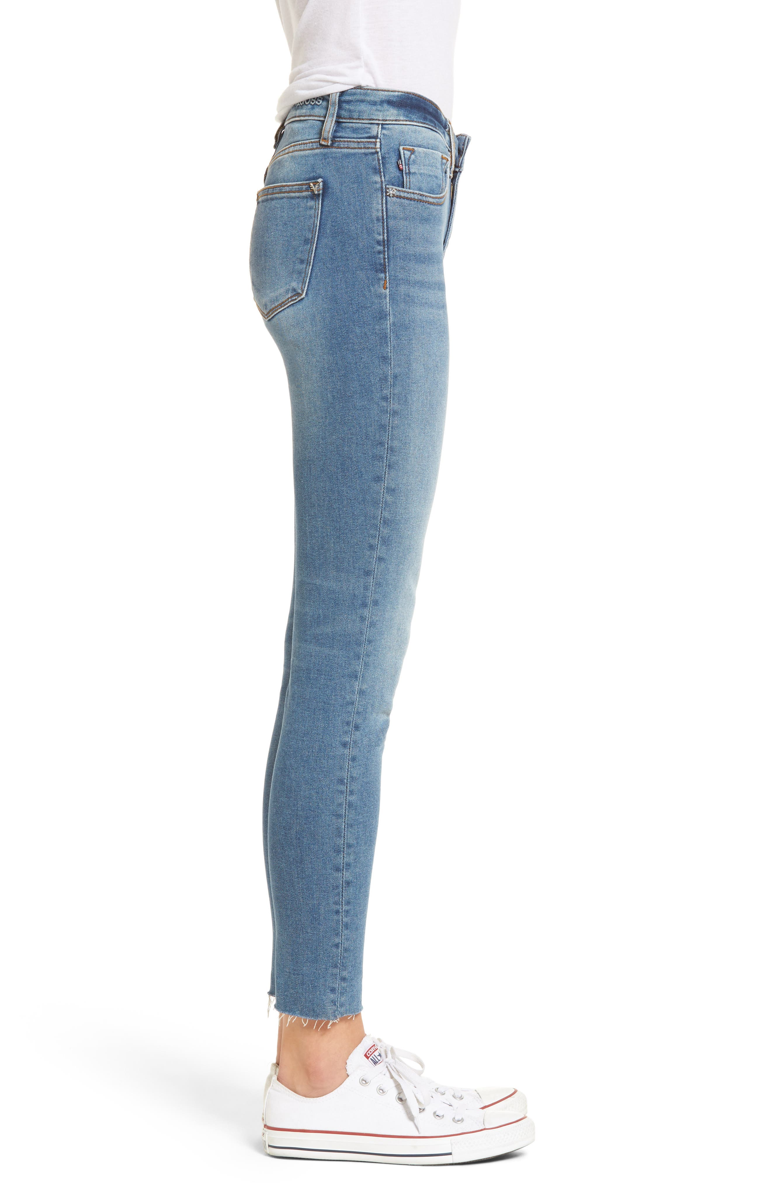Marley Raw Hem Super Skinny Jeans,                             Alternate thumbnail 3, color,                             461