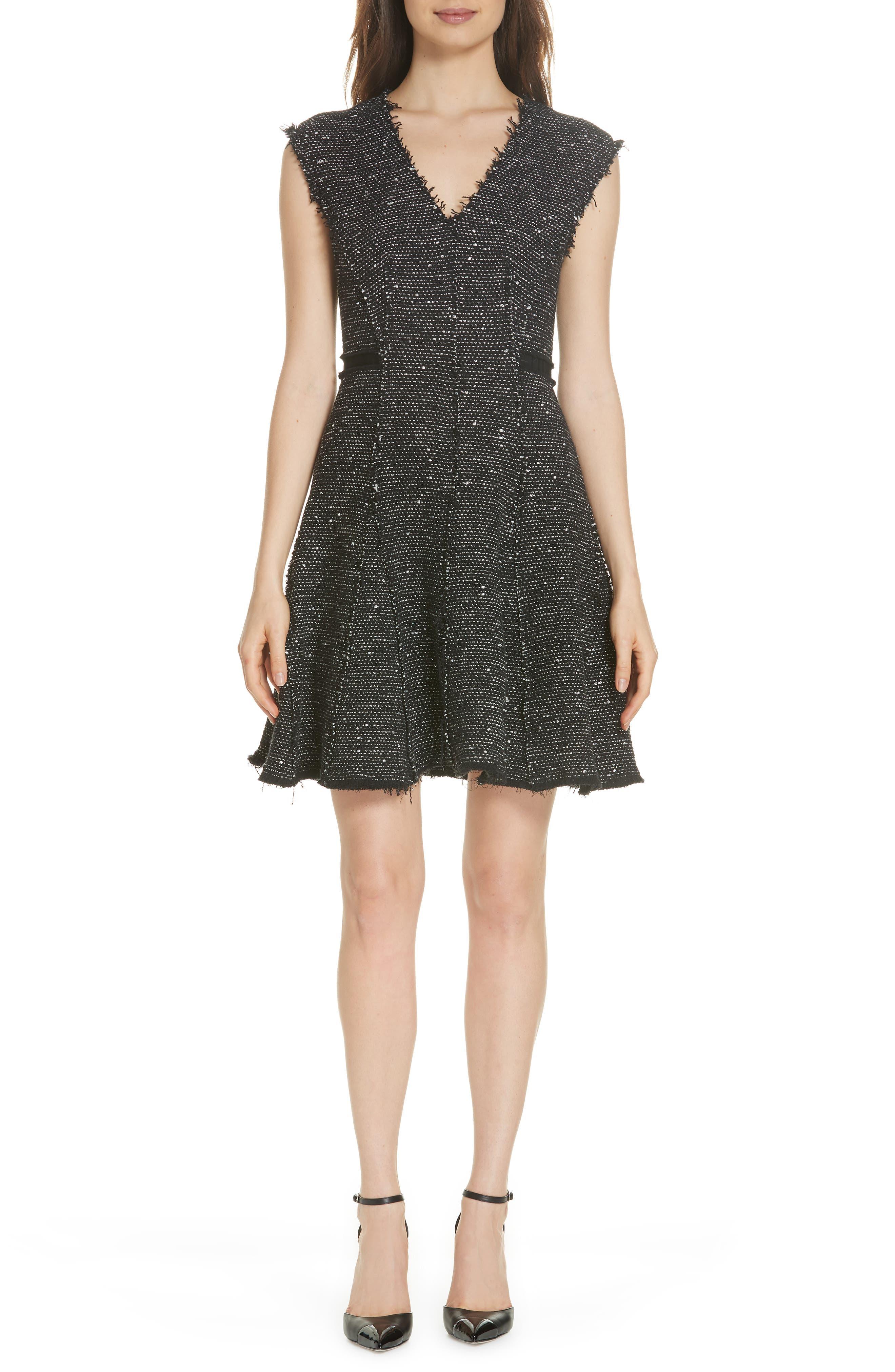 Sparkle Stretch Dress,                             Main thumbnail 1, color,                             BLACK