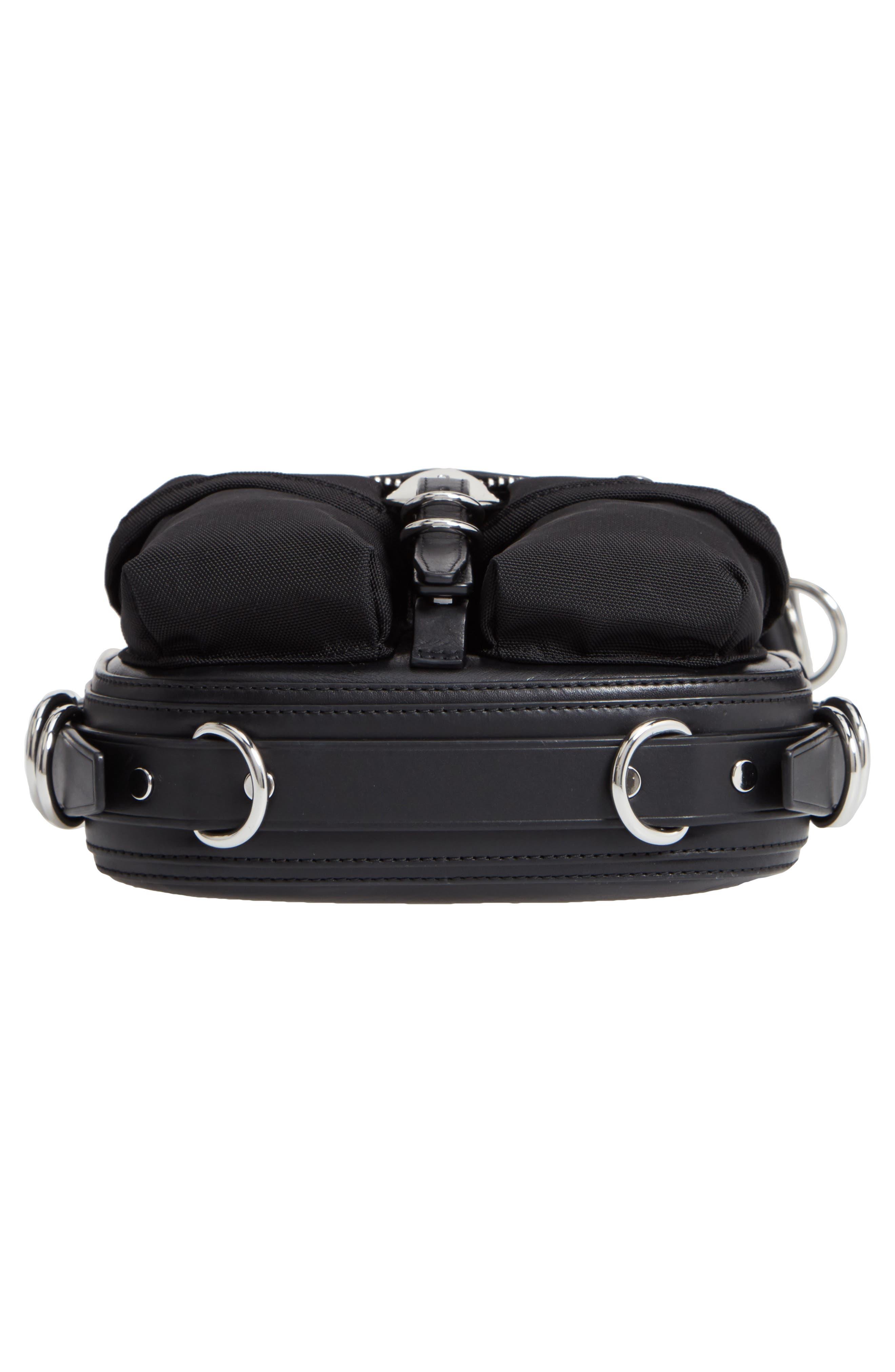 Rove Mixed Media Crossbody Bag,                             Alternate thumbnail 6, color,                             BLACK