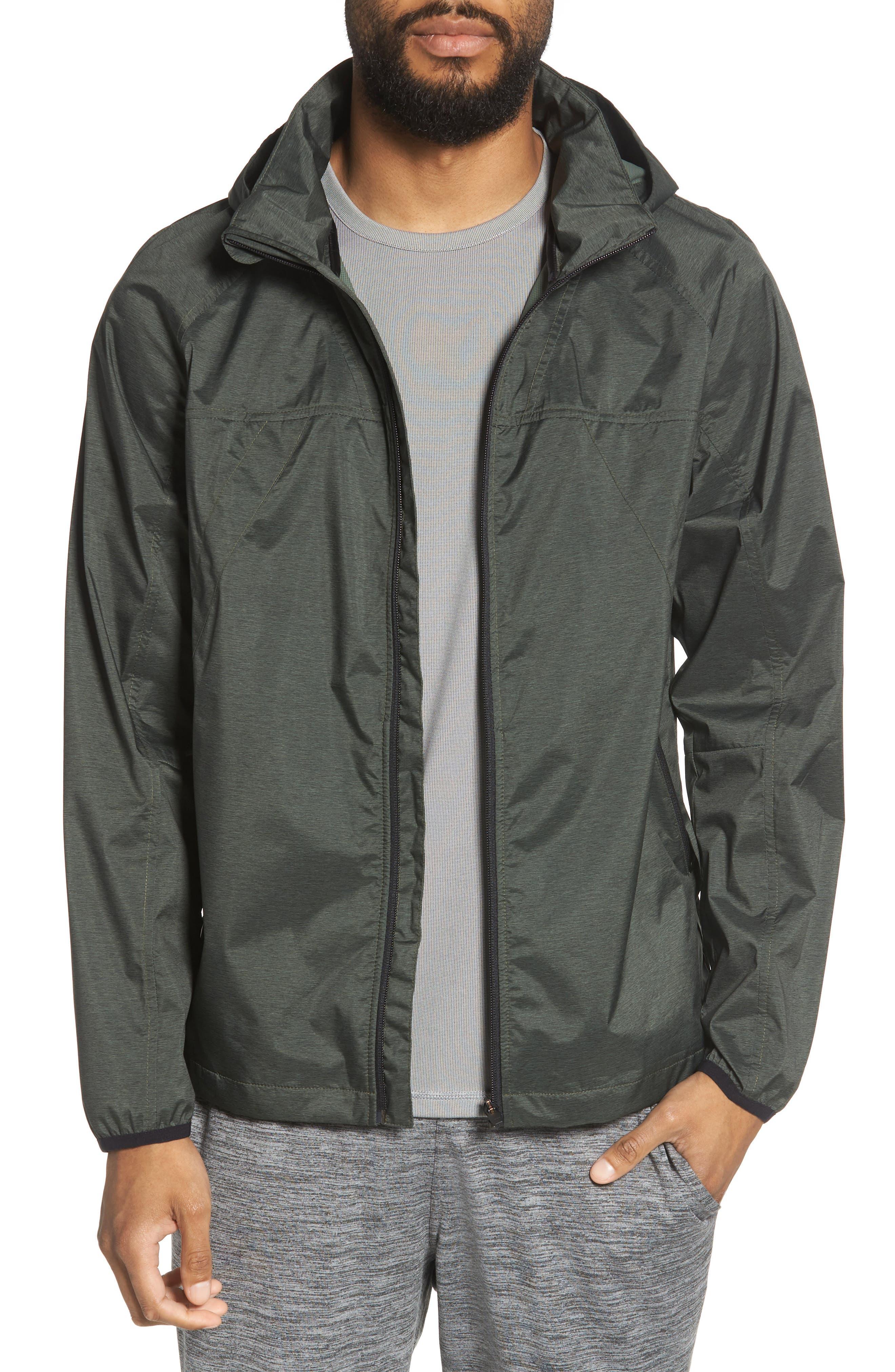Xieite Hooded Jacket,                         Main,                         color, GREEN TACTICAL MELANGE