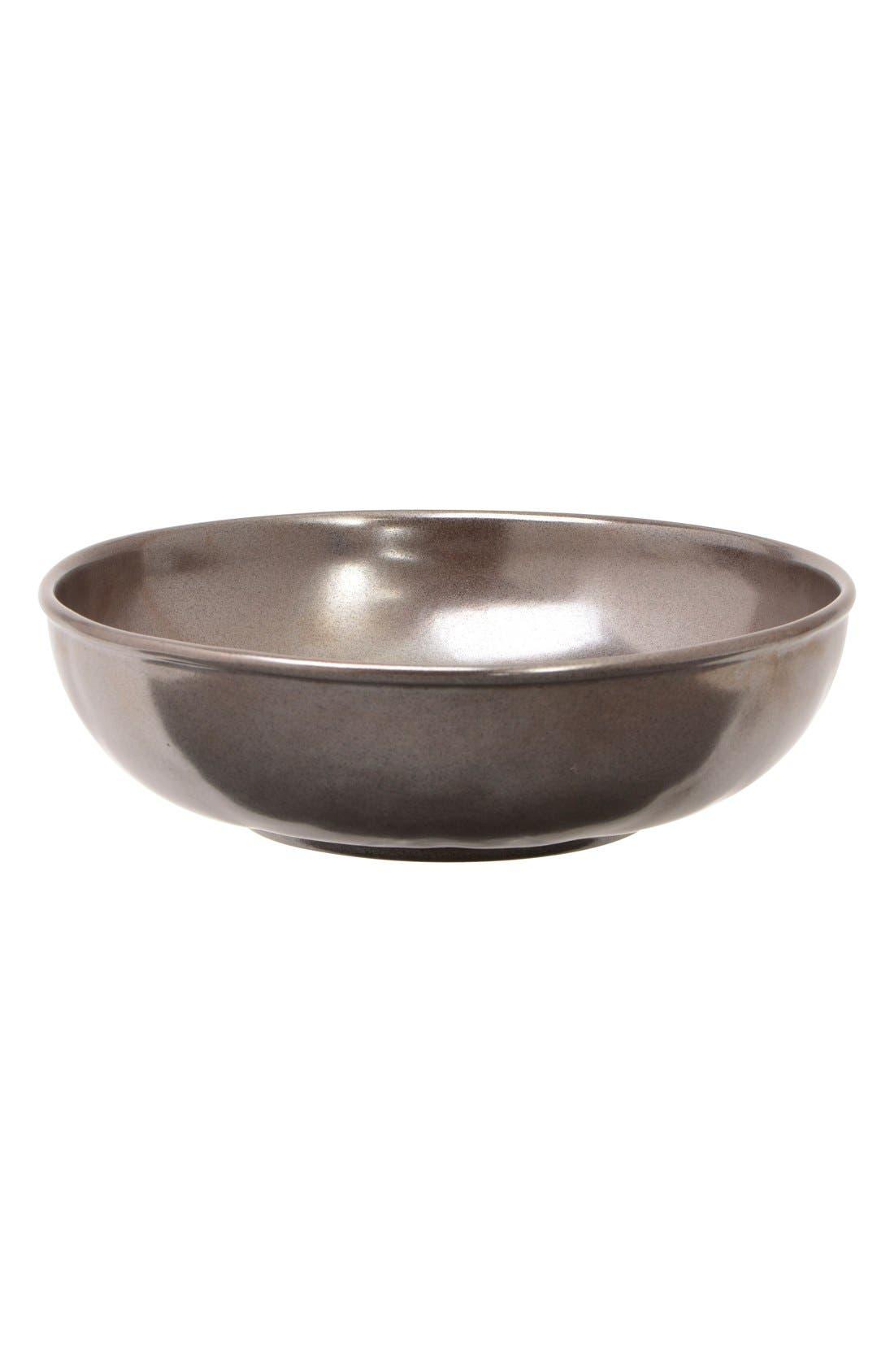 'Pewter' Stoneware Soup Bowl,                             Main thumbnail 1, color,                             PEWTER