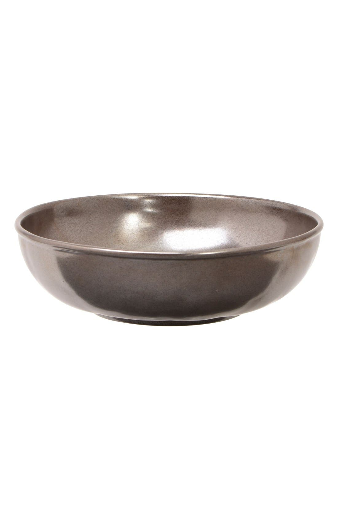 'Pewter' Stoneware Soup Bowl,                         Main,                         color, PEWTER