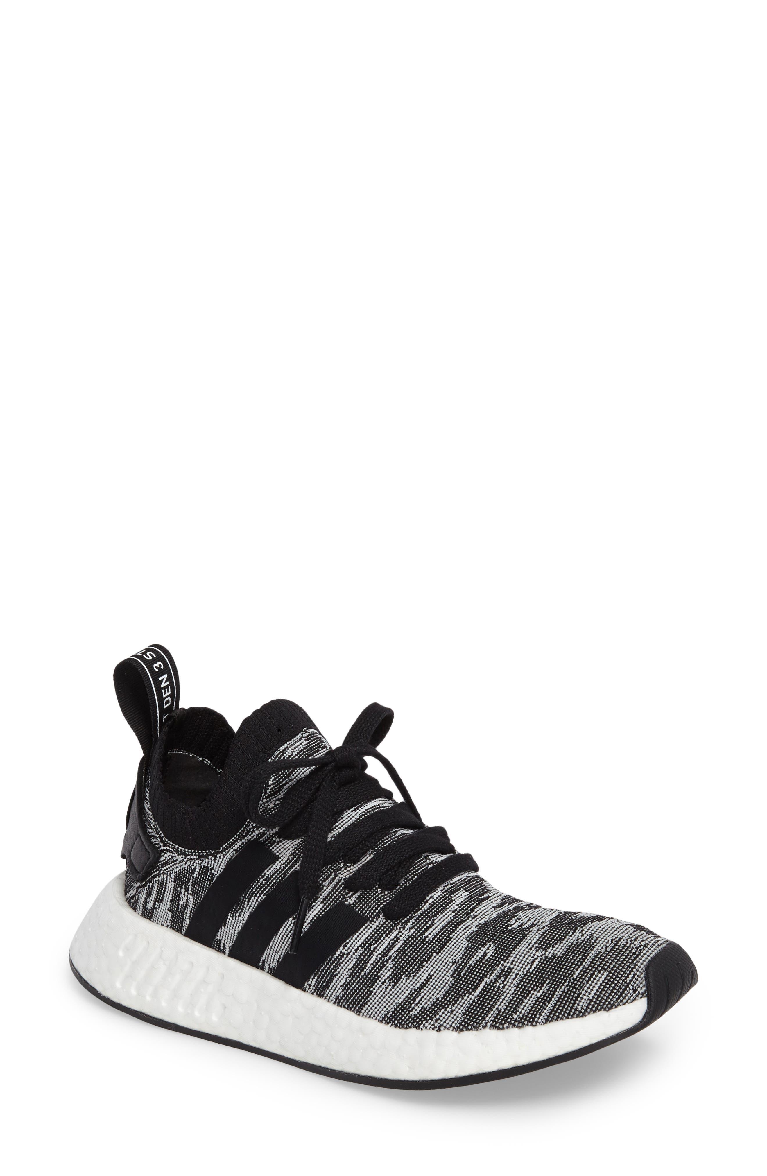 NMD R2 Primeknit Athletic Shoe,                             Main thumbnail 2, color,