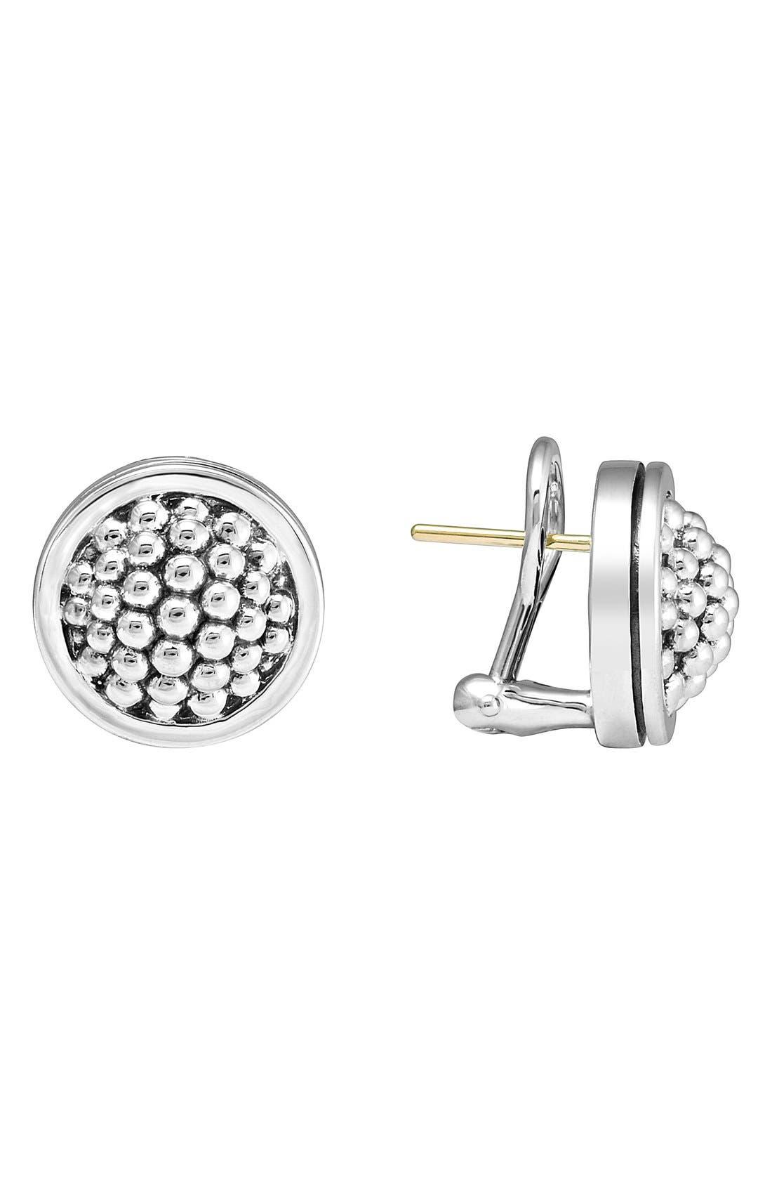 Caviar Stud Earrings,                             Main thumbnail 1, color,                             STERLING SILVER