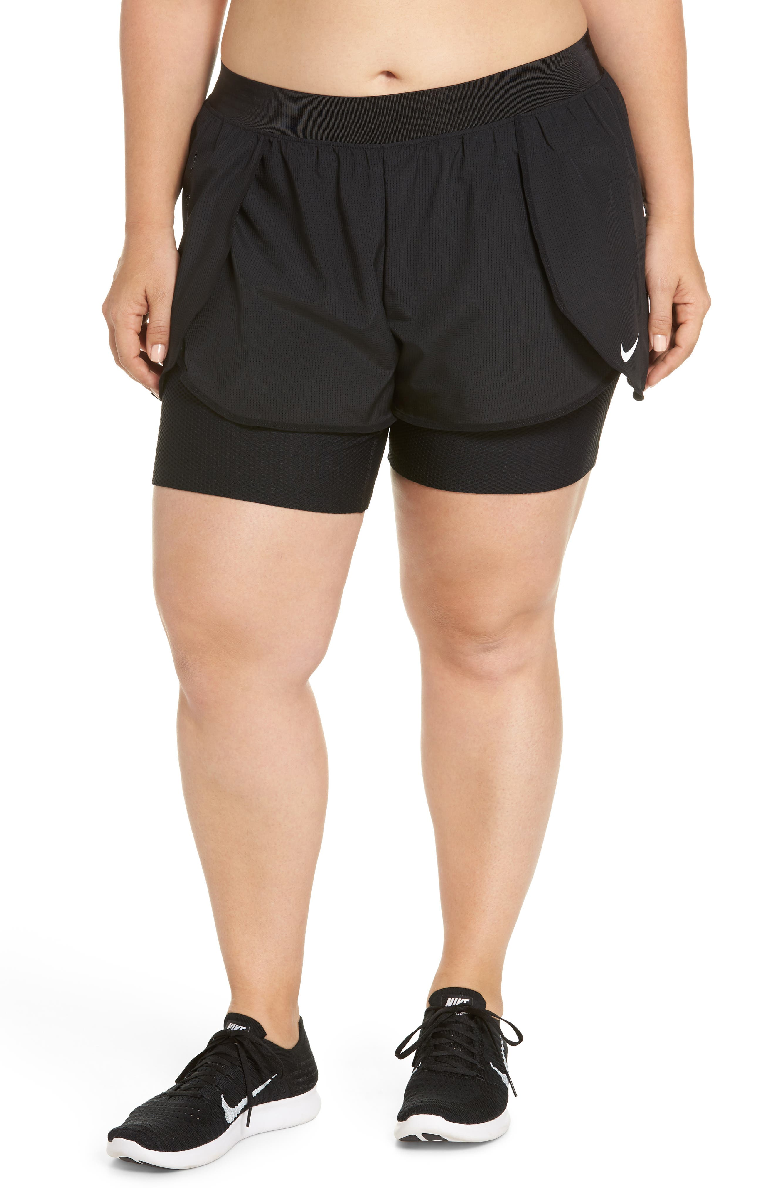 Flex Bliss 2-in-1 Training Shorts,                             Main thumbnail 1, color,                             010