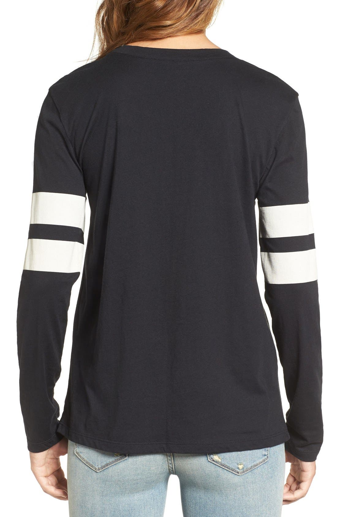 Varsity Stripe Cotton Tee,                             Alternate thumbnail 129, color,