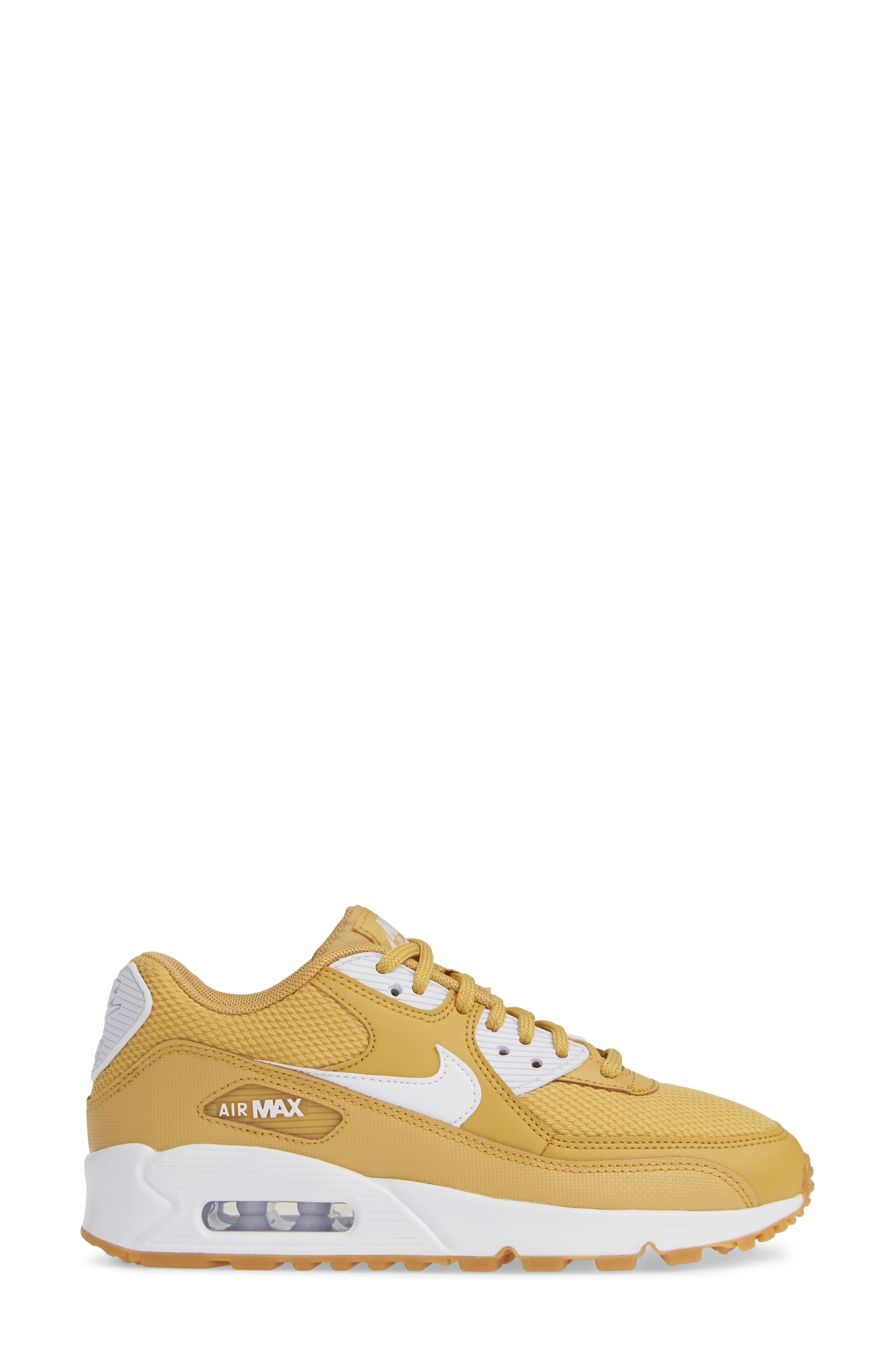 'Air Max 90' Sneaker,                             Alternate thumbnail 3, color,                             WHEAT GOLD/ WHITE/ LIGHT BROWN