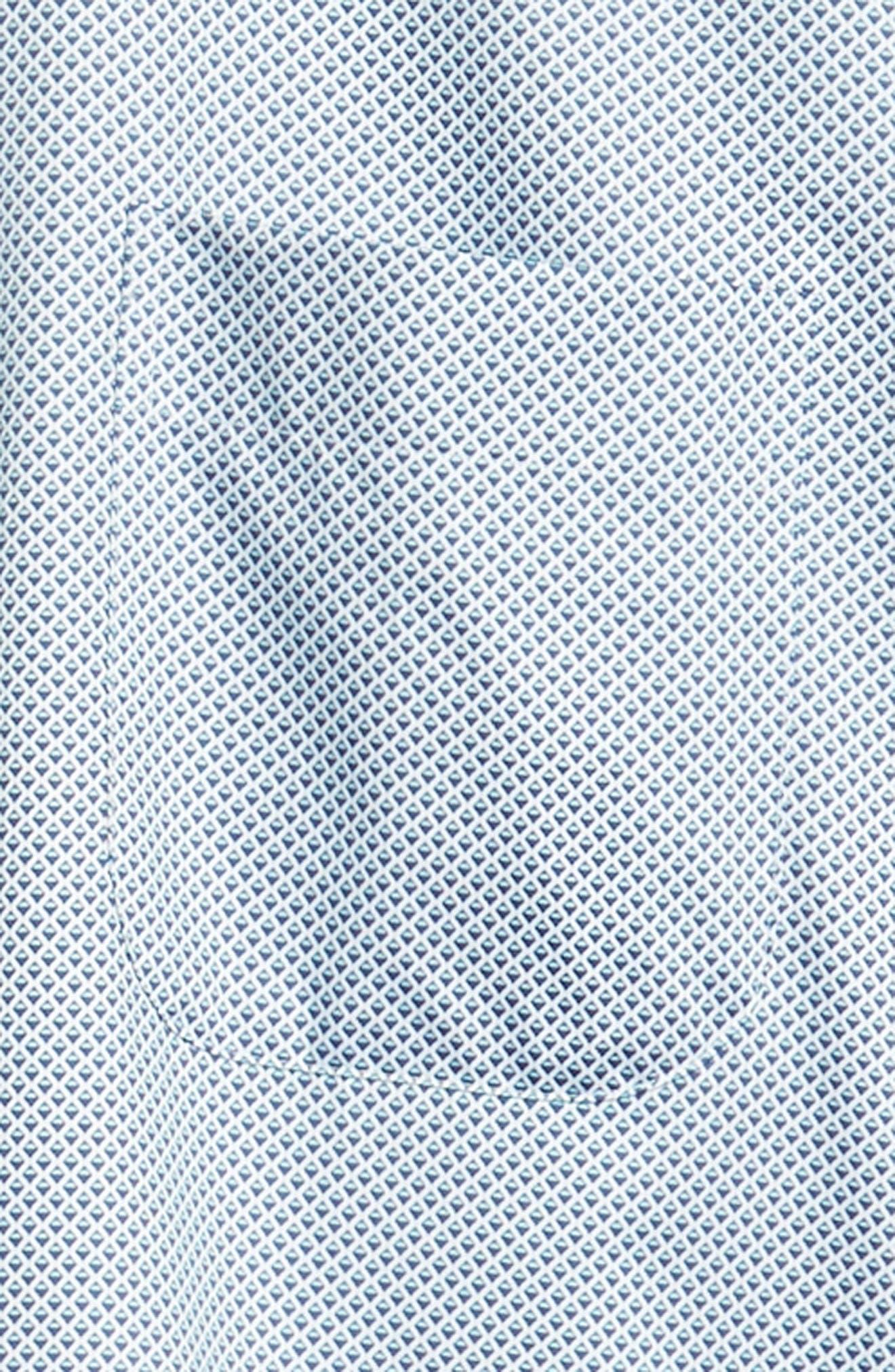 Diamond in the Rough Regular Fit Sport Shirt,                             Alternate thumbnail 6, color,                             NAVY