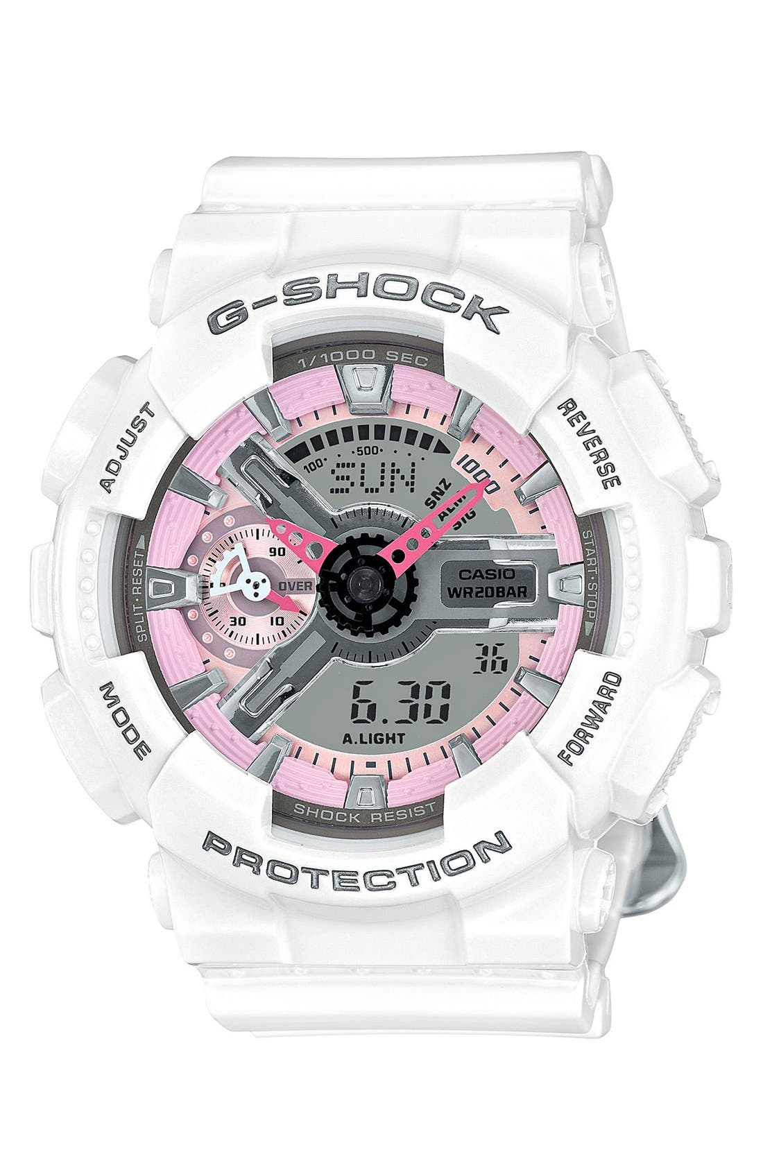 G-Shock 'Ana-Digi' Resin Watch, 49mm,                             Main thumbnail 1, color,                             100