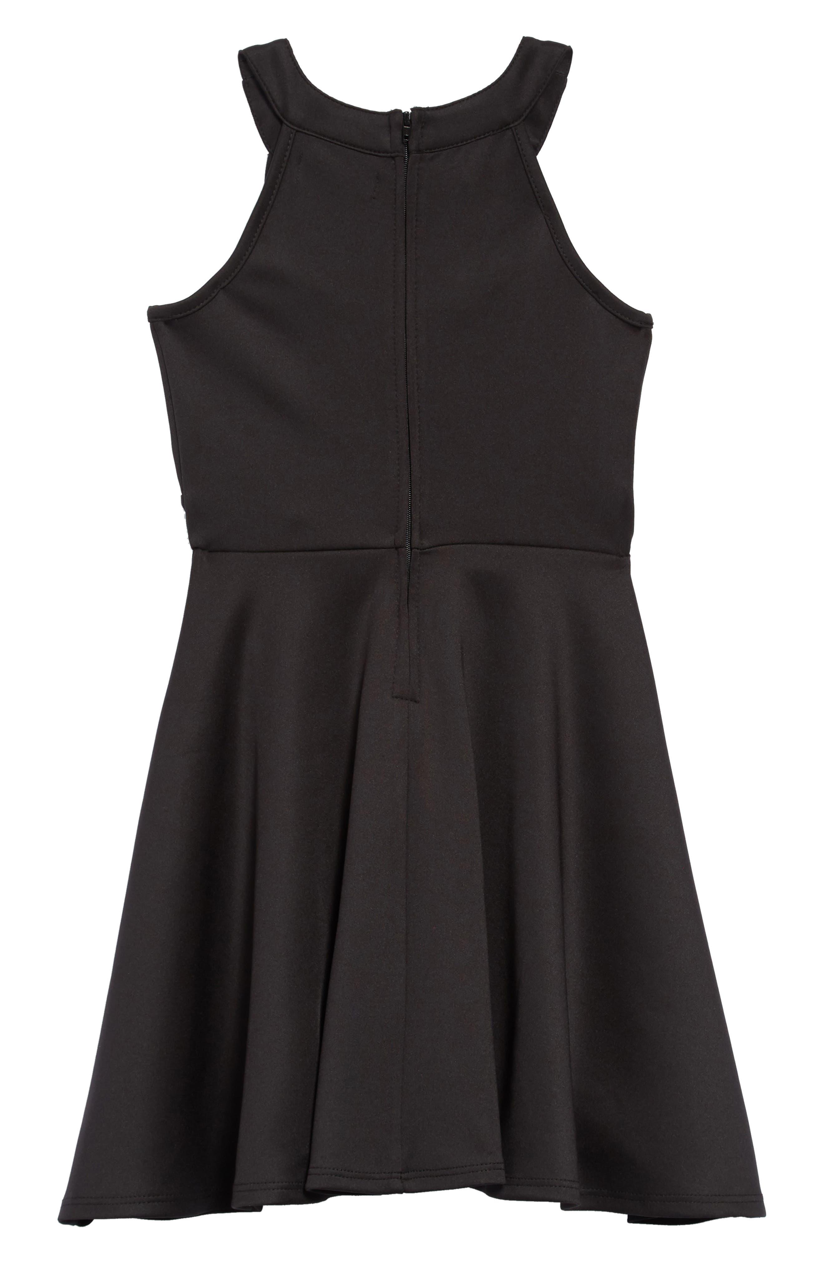 Scuba Dress with Detail,                             Alternate thumbnail 2, color,                             001