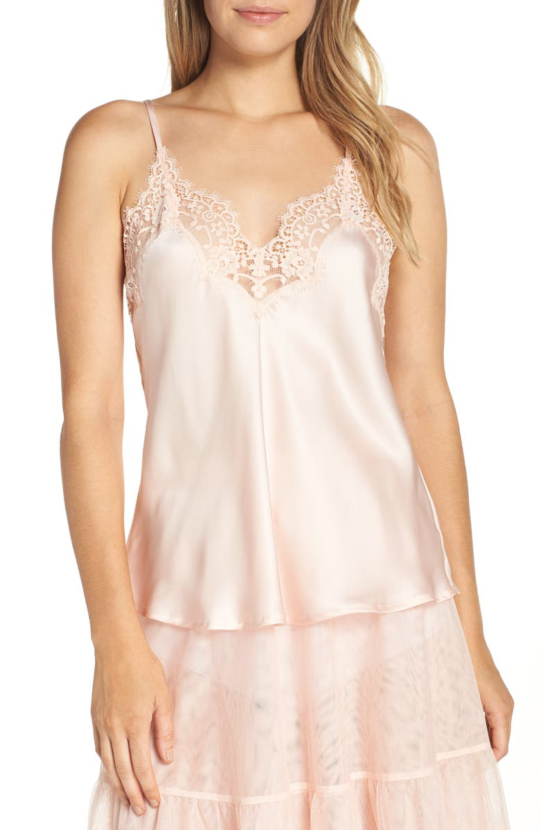 Halogen® x Atlantic-Pacific Satin Camisole | Nordstrom