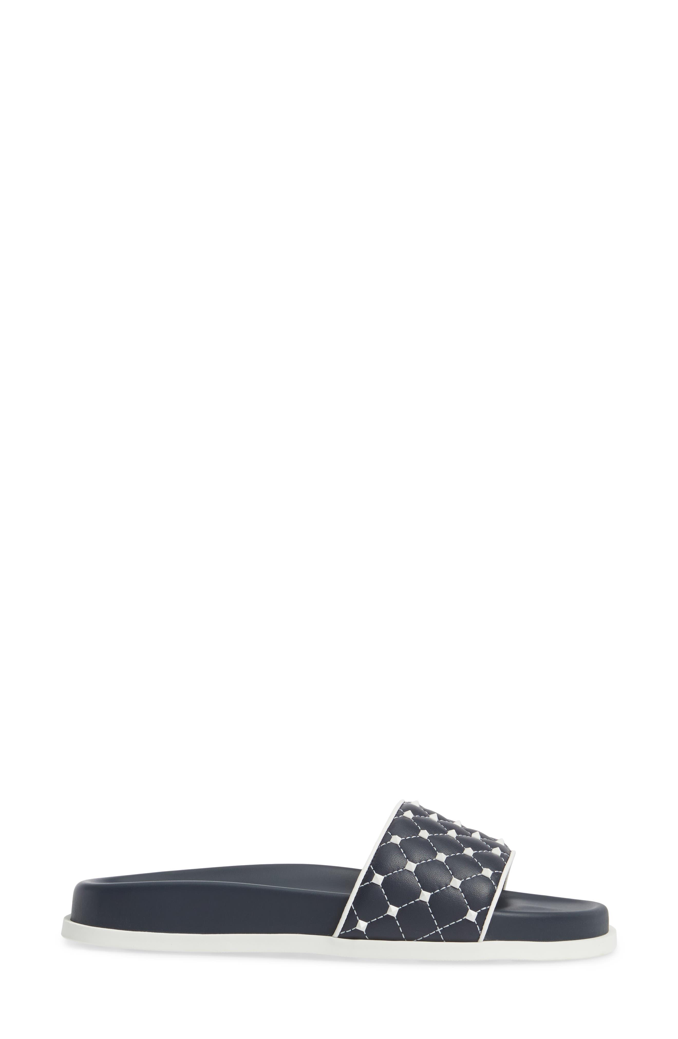 Free Rockstud Slide Sandal,                             Alternate thumbnail 3, color,                             400