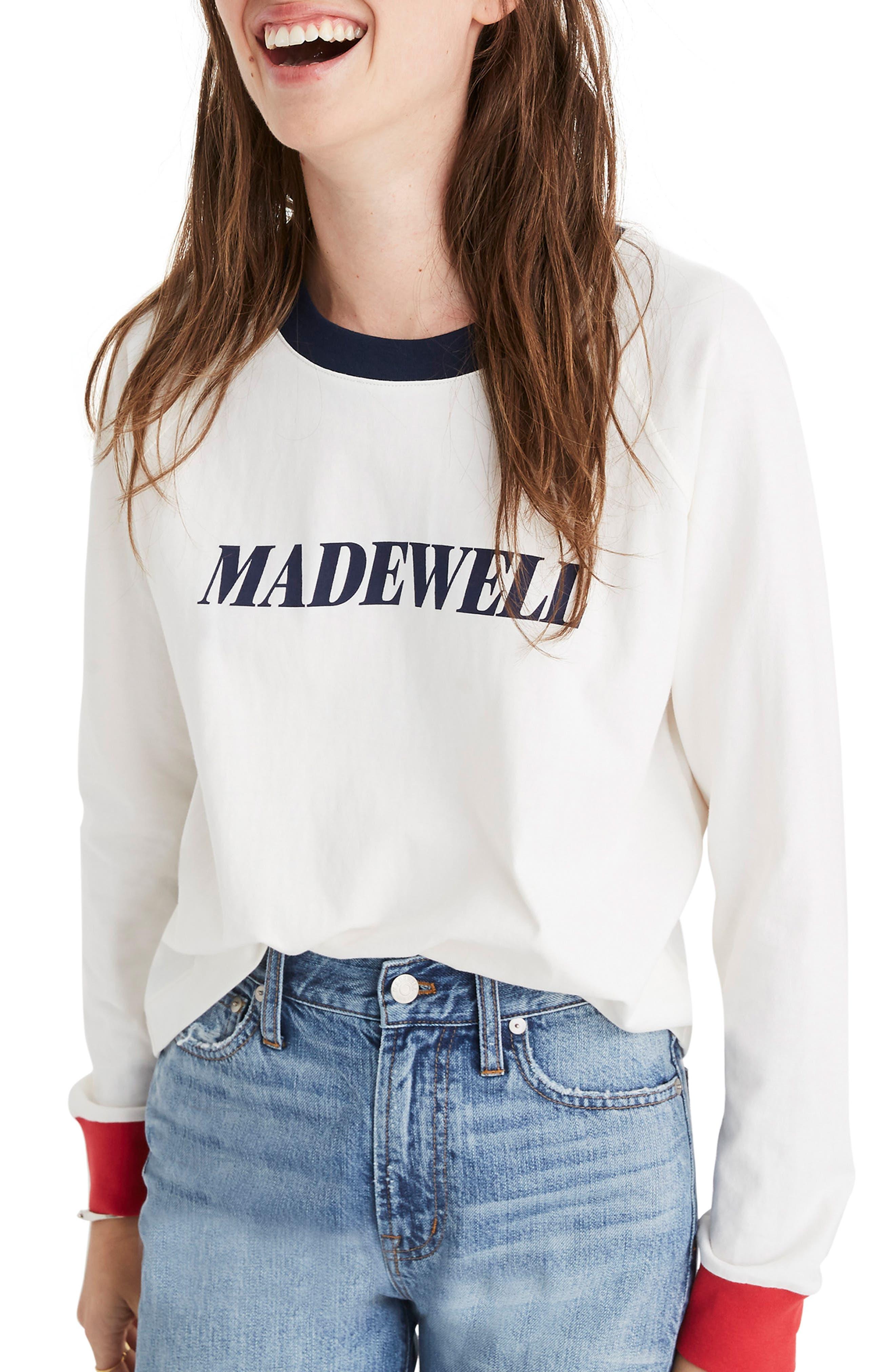Madewell Logo Raglan Tee, White