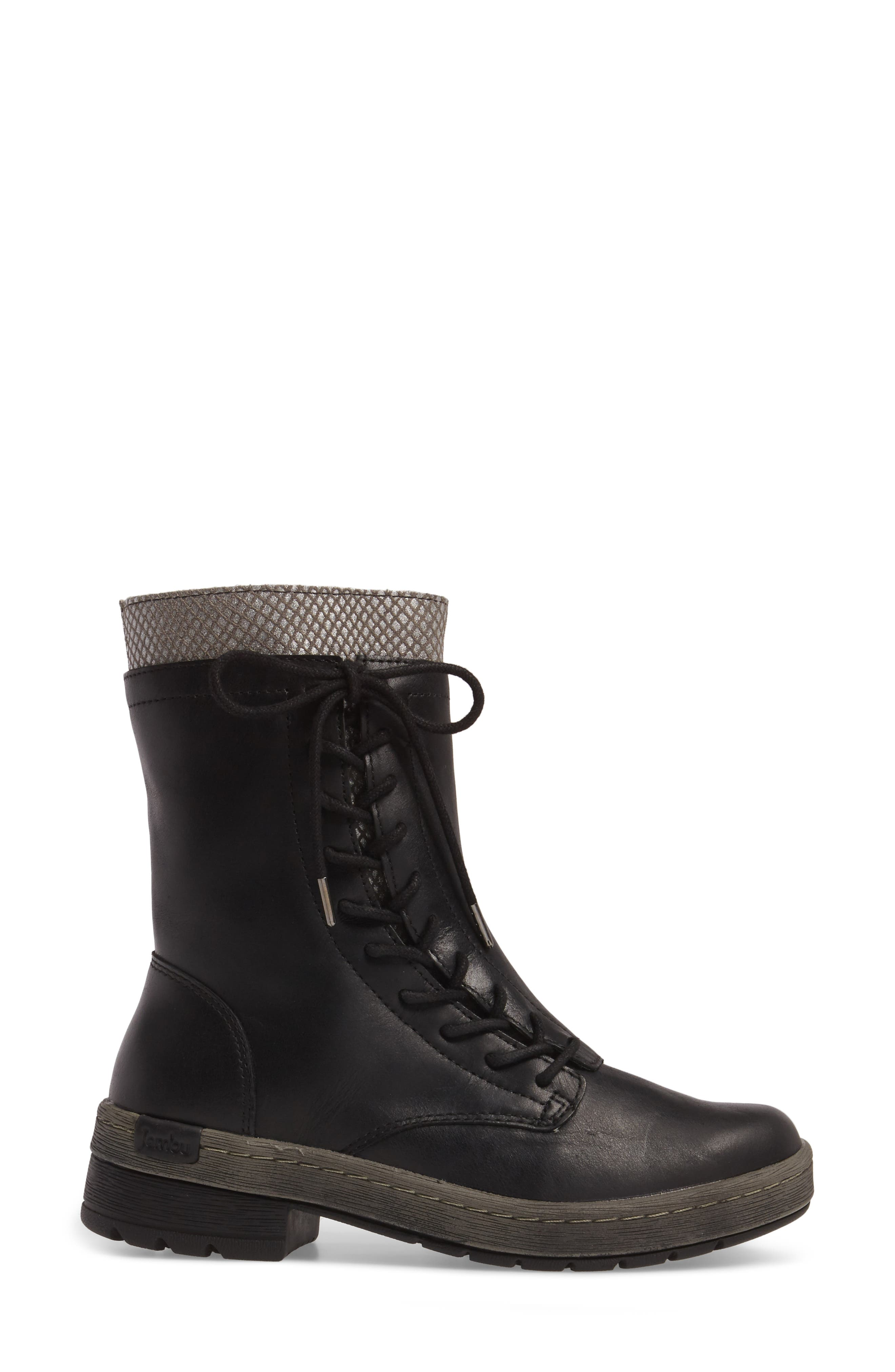 Chestnut Lace-Up Water Resistant Boot,                             Alternate thumbnail 3, color,                             001