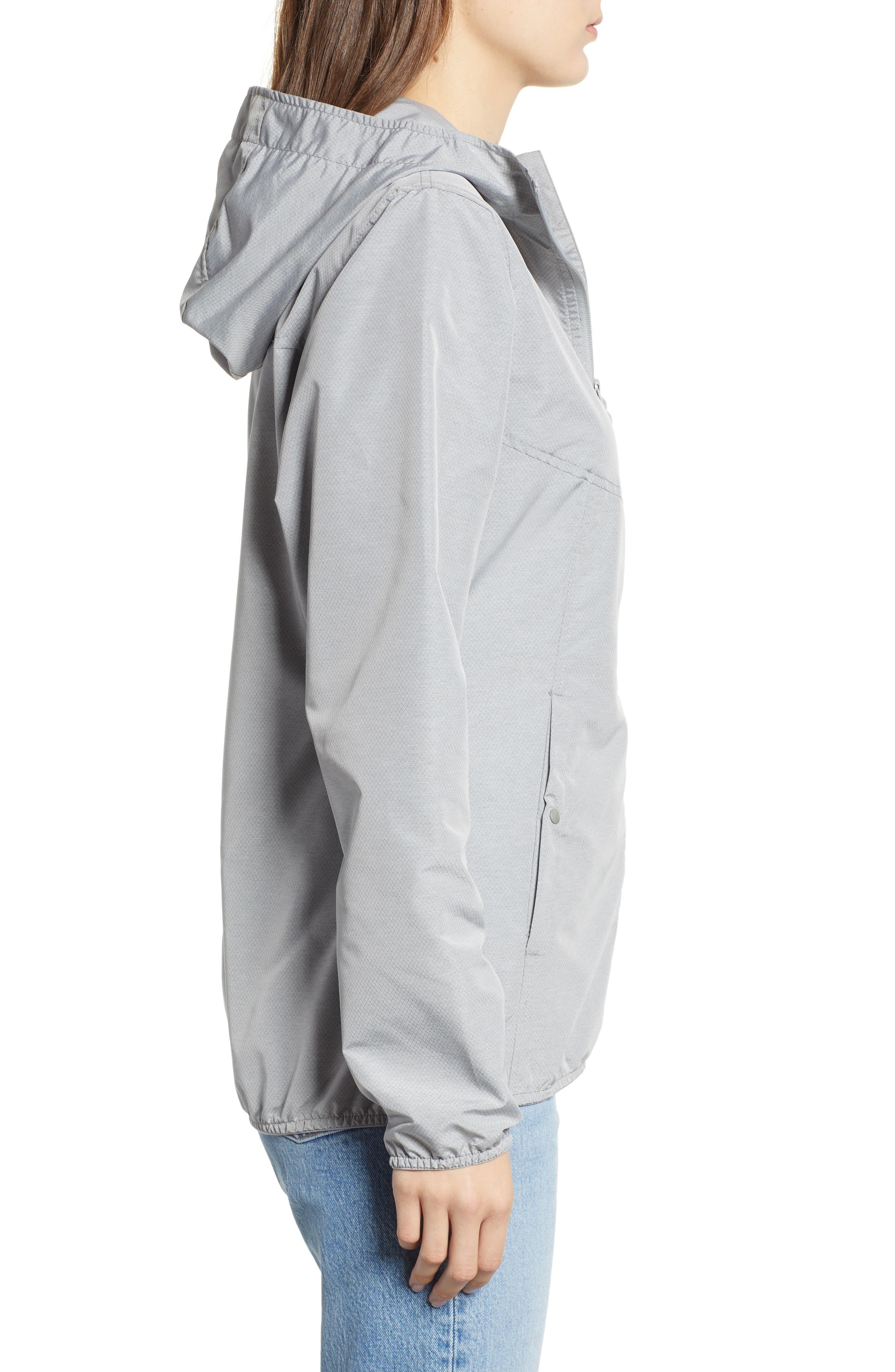 oyage Wind Hooded Jacket,                             Alternate thumbnail 3, color,                             LIGHT GREY CROSSHATCH