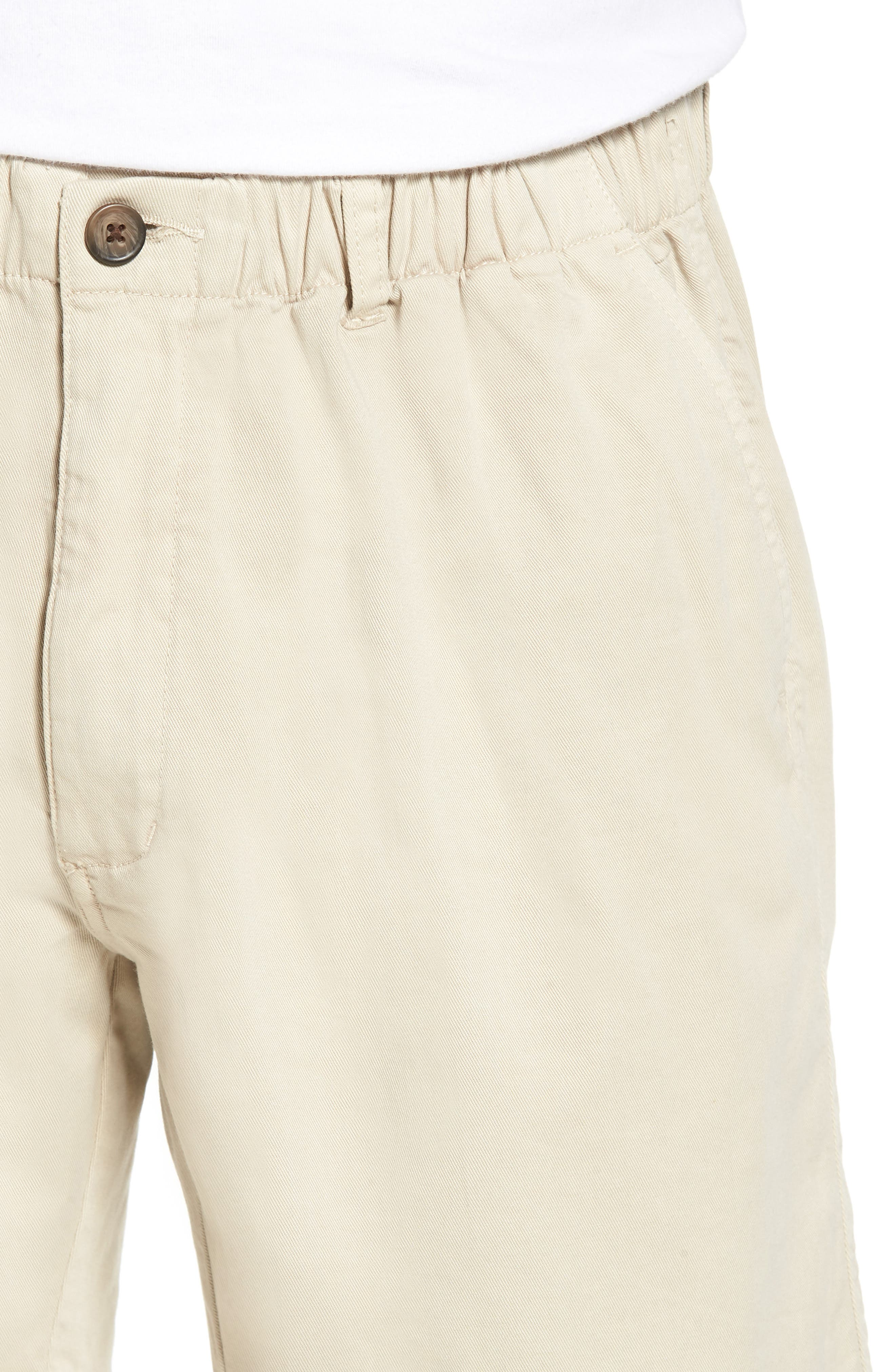 7in Snappers Elastic Waist Shorts,                             Alternate thumbnail 4, color,                             STONE