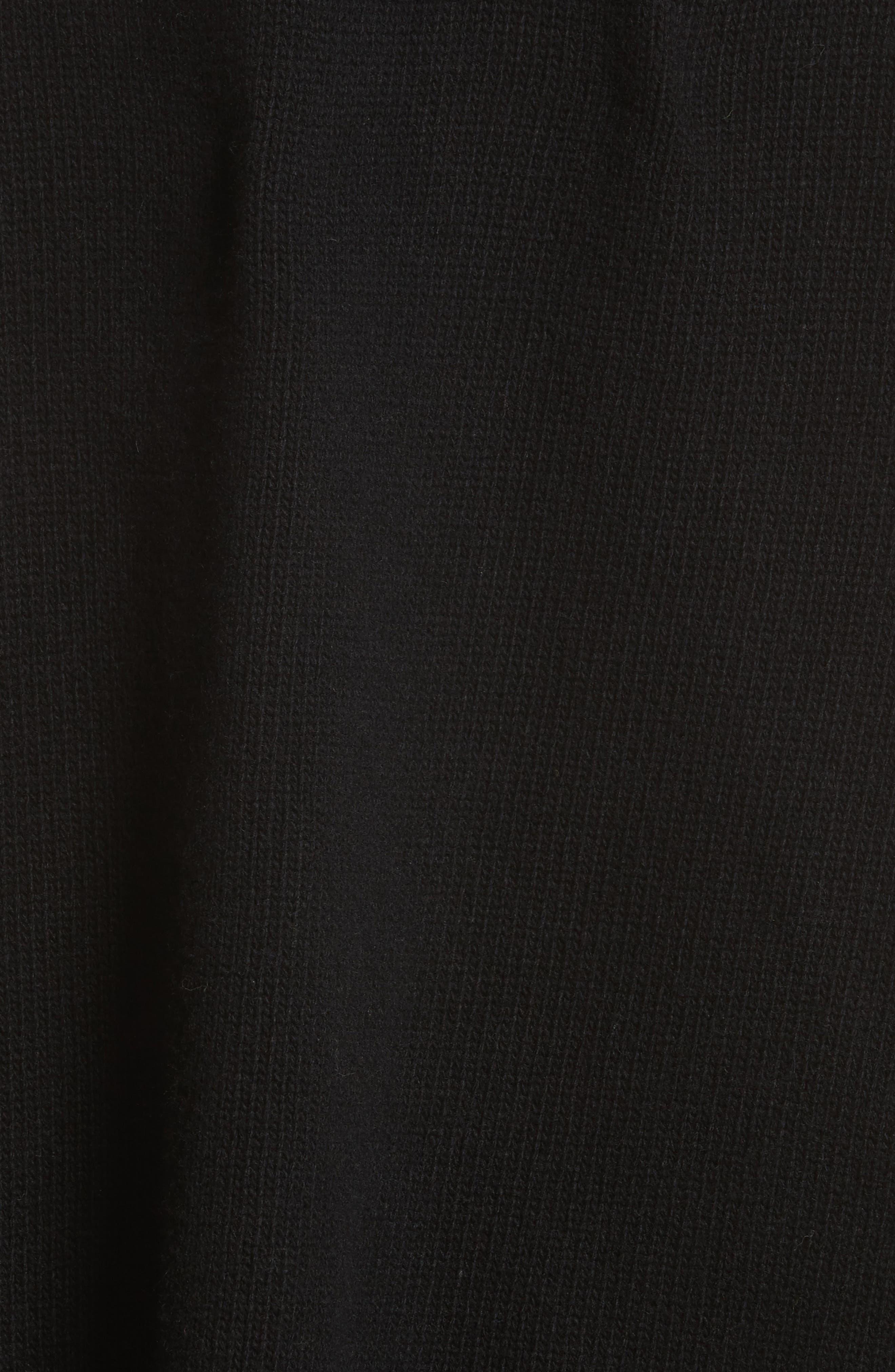Star Turtleneck Sweater,                             Alternate thumbnail 5, color,                             001