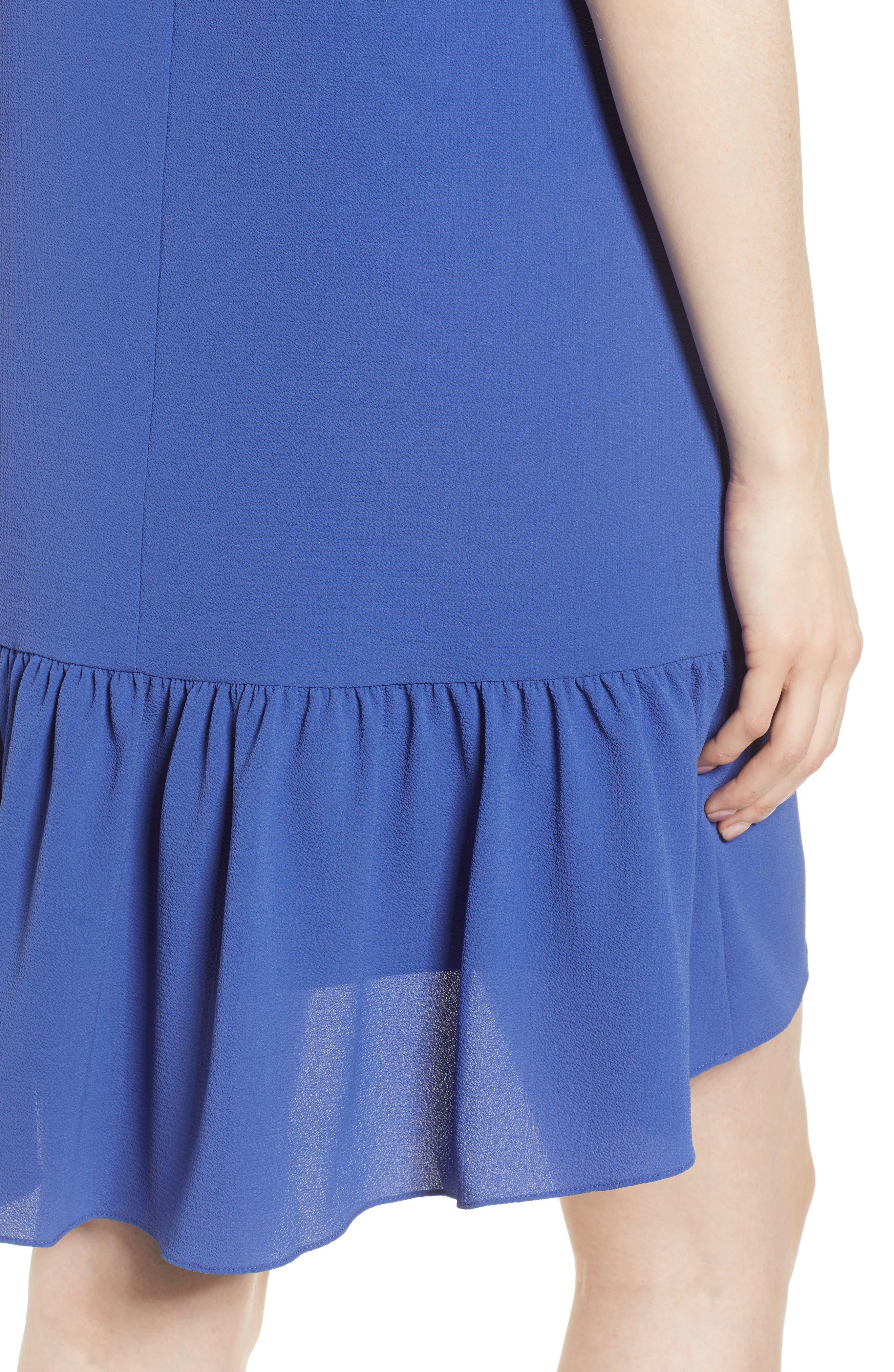 Zipper Back Ruffle Dress,                             Alternate thumbnail 12, color,