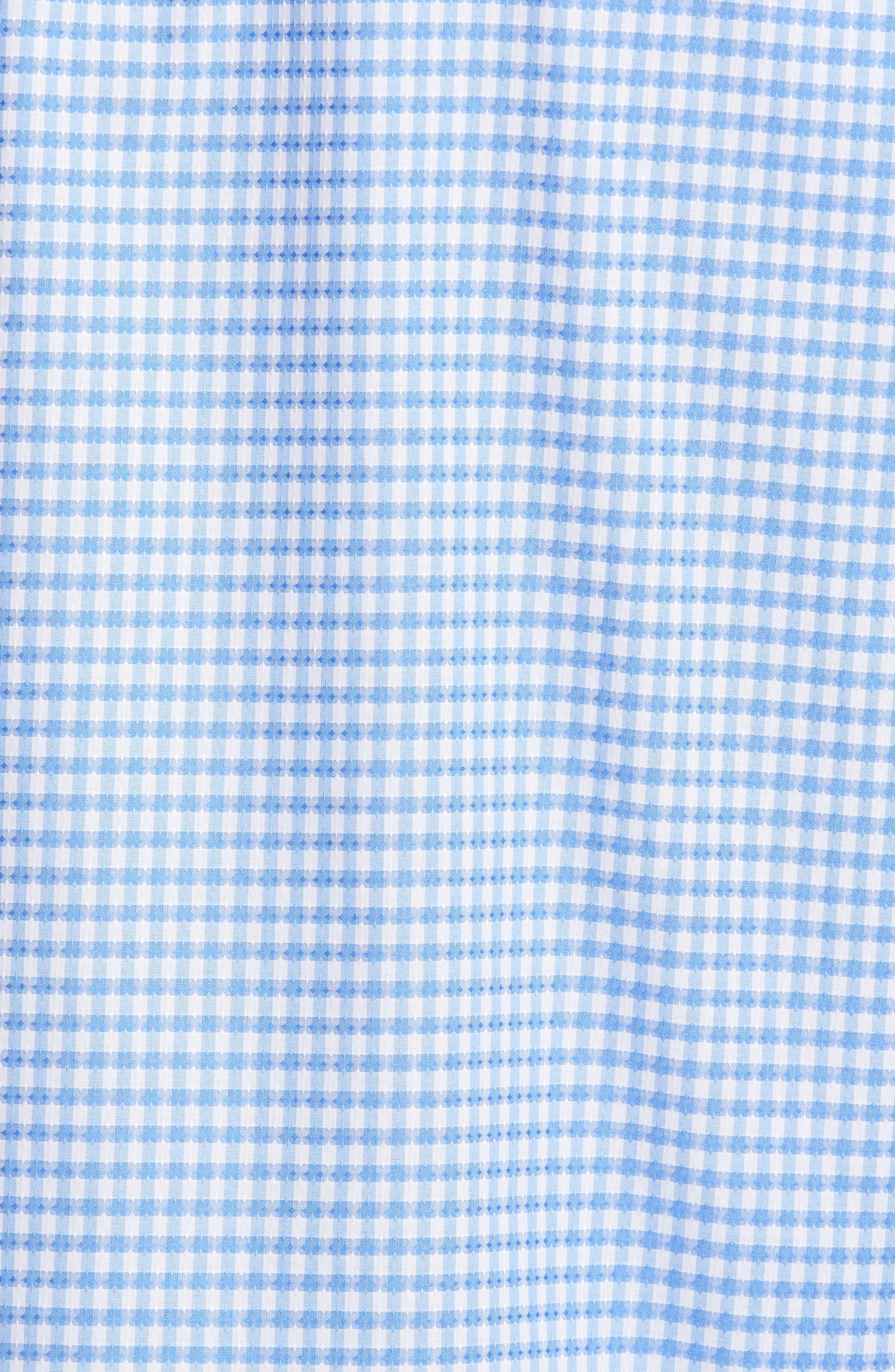 Classic Fit Mini Check Sport Shirt,                             Alternate thumbnail 5, color,                             423